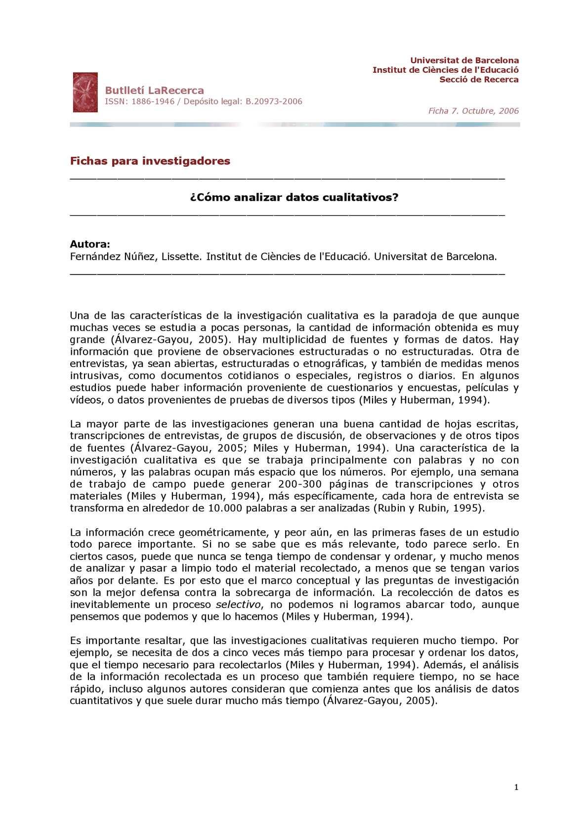 Calaméo - Cómo Analizar Datos Cualitativos