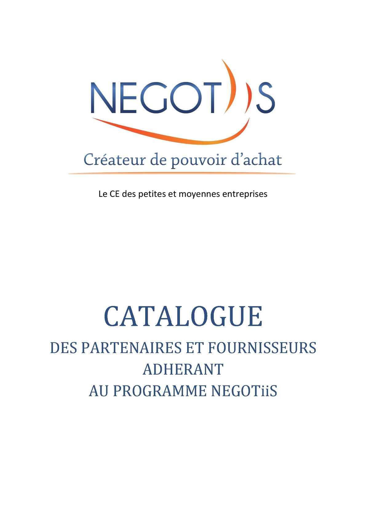 f8e1bb30e37f32 Calaméo - Catalogue des partenaires NEGOTiiS