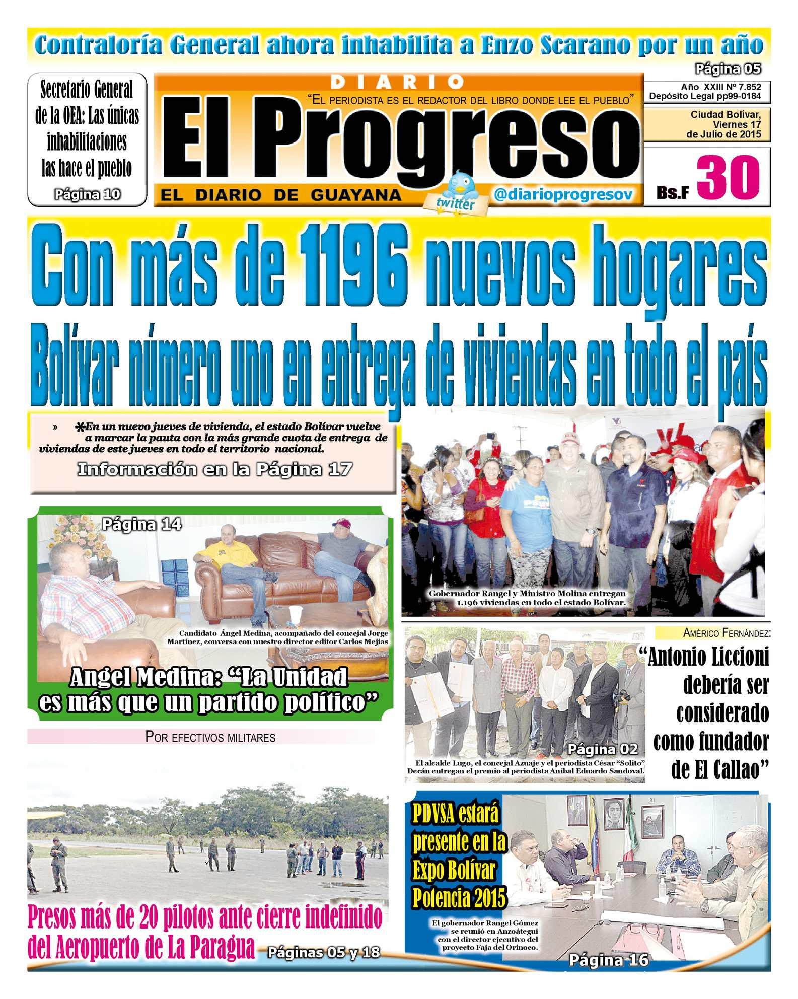Calaméo - DiarioelprogresoEDICIÓNDIGITAL 17-07-2015