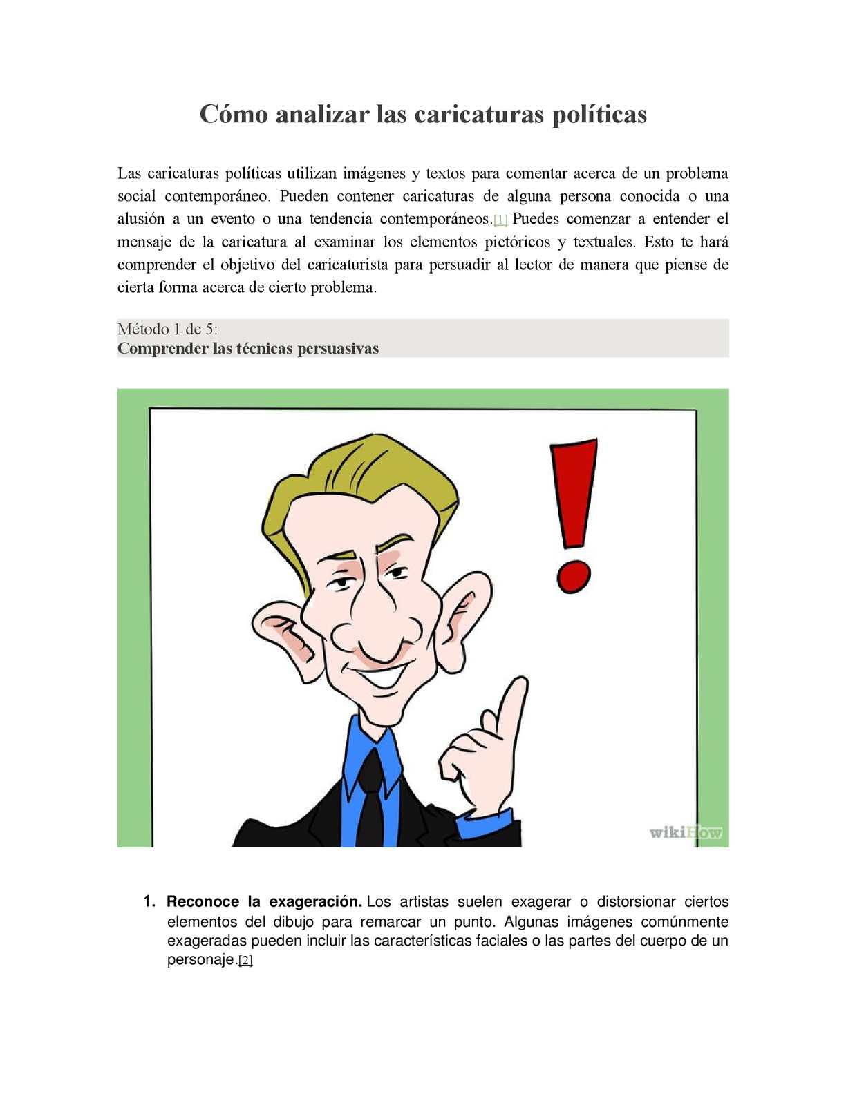 Calaméo - Cómo Analizar Las Caricaturas Políticas