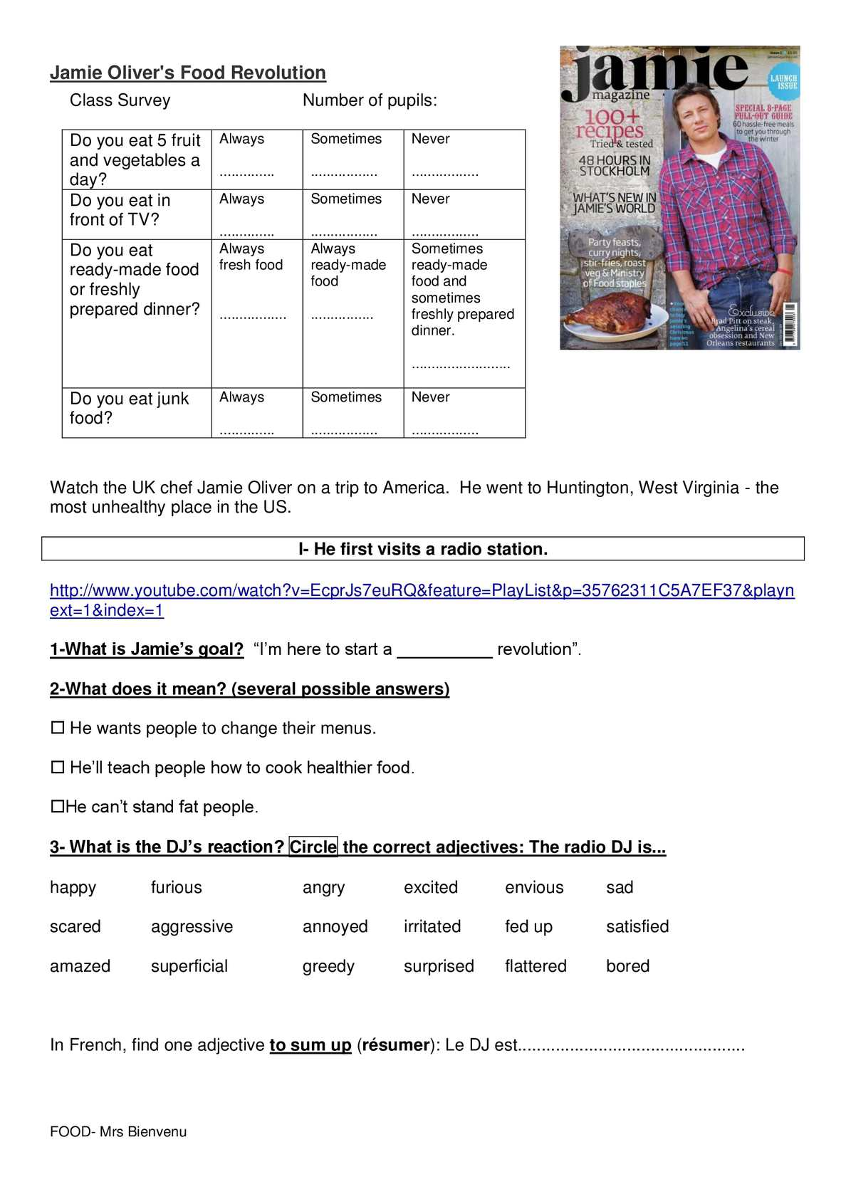 Jamie olivers food revolution 3 videos and worksheet with answer page 2 ibookread Download