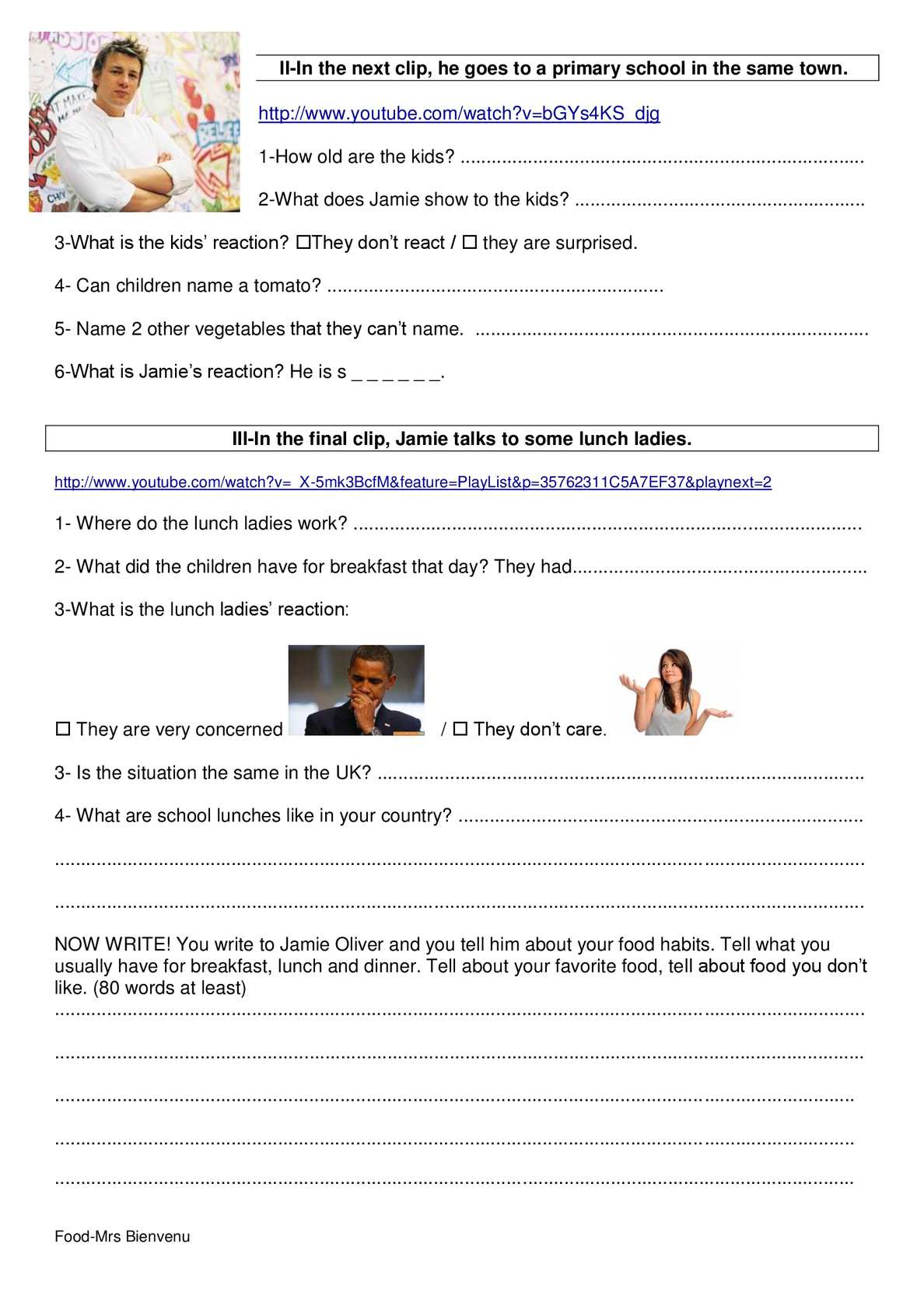 Jamie olivers food revolution 3 videos and worksheet with answer page 3 ibookread Download