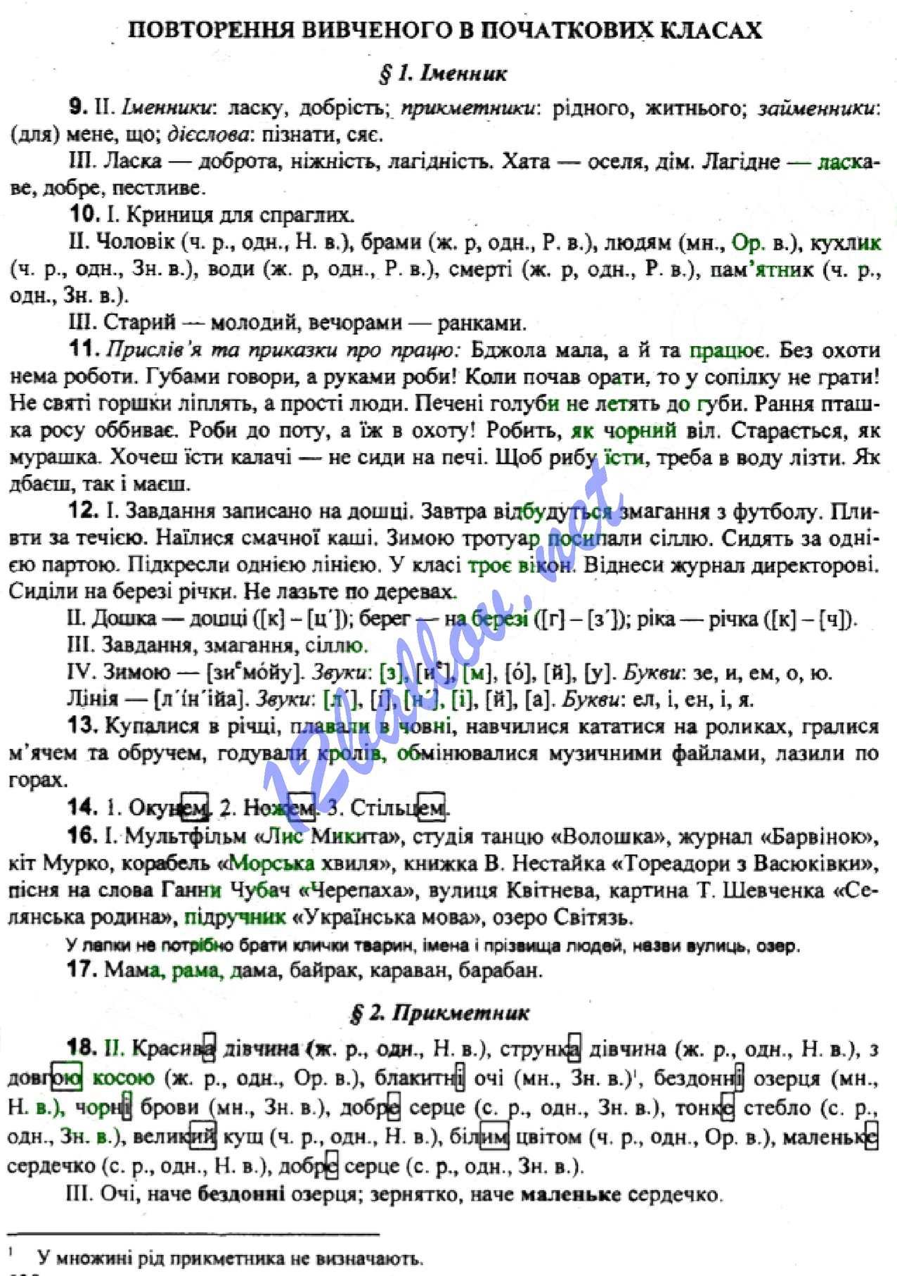Гдз с української мови 5 клас заболотний