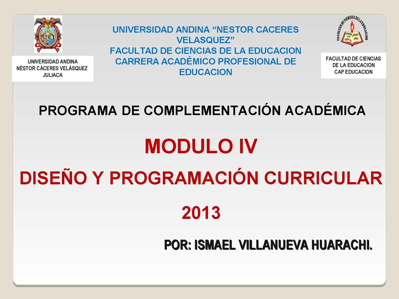 Calaméo - Diseño Y Programación Curricular Ismael