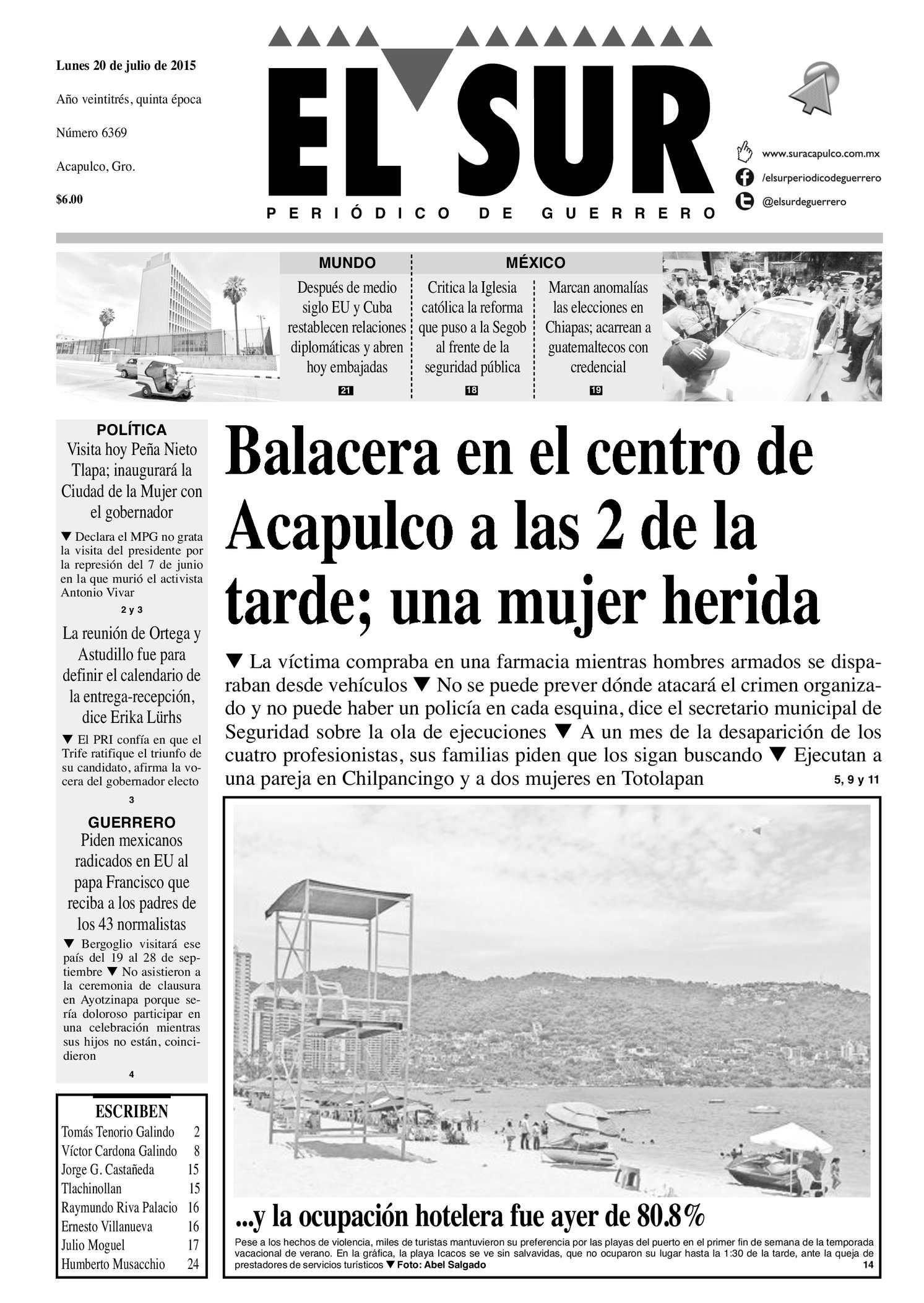 Calaméo - El Sur Lunes 20072015