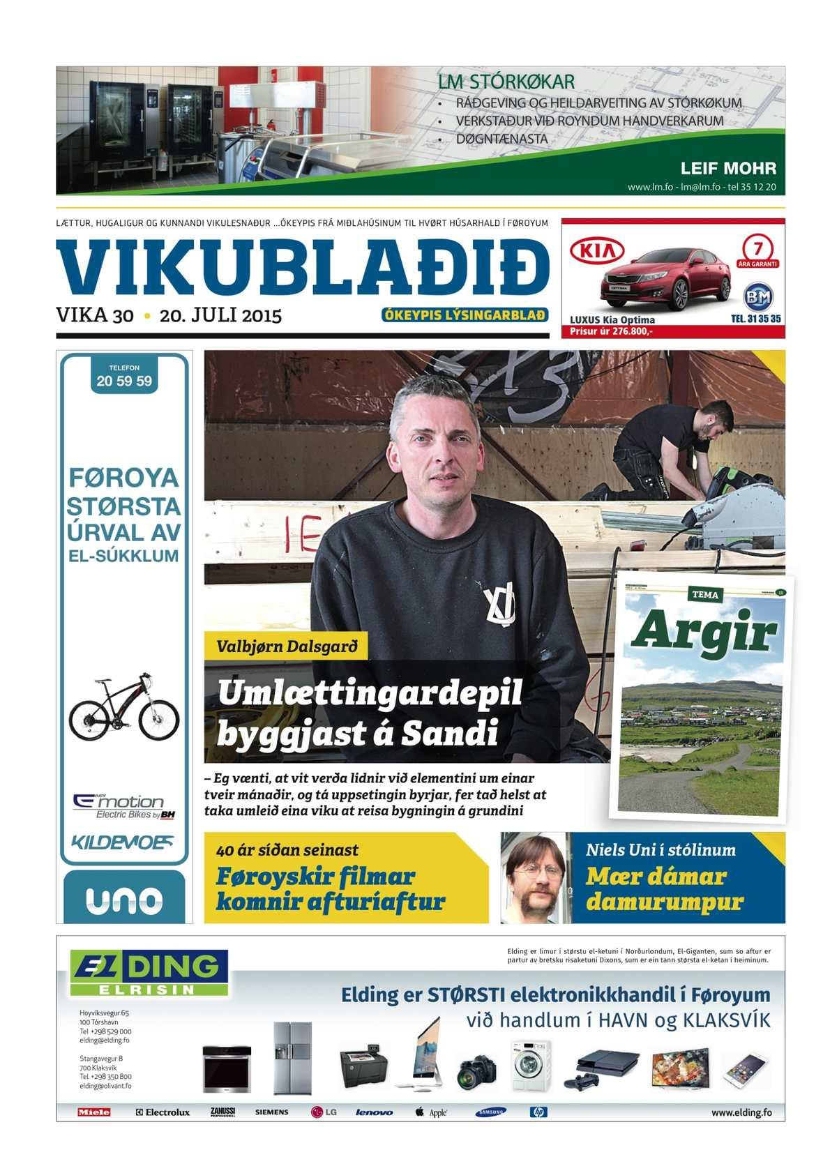 Vikublaðið 22. juli 2015