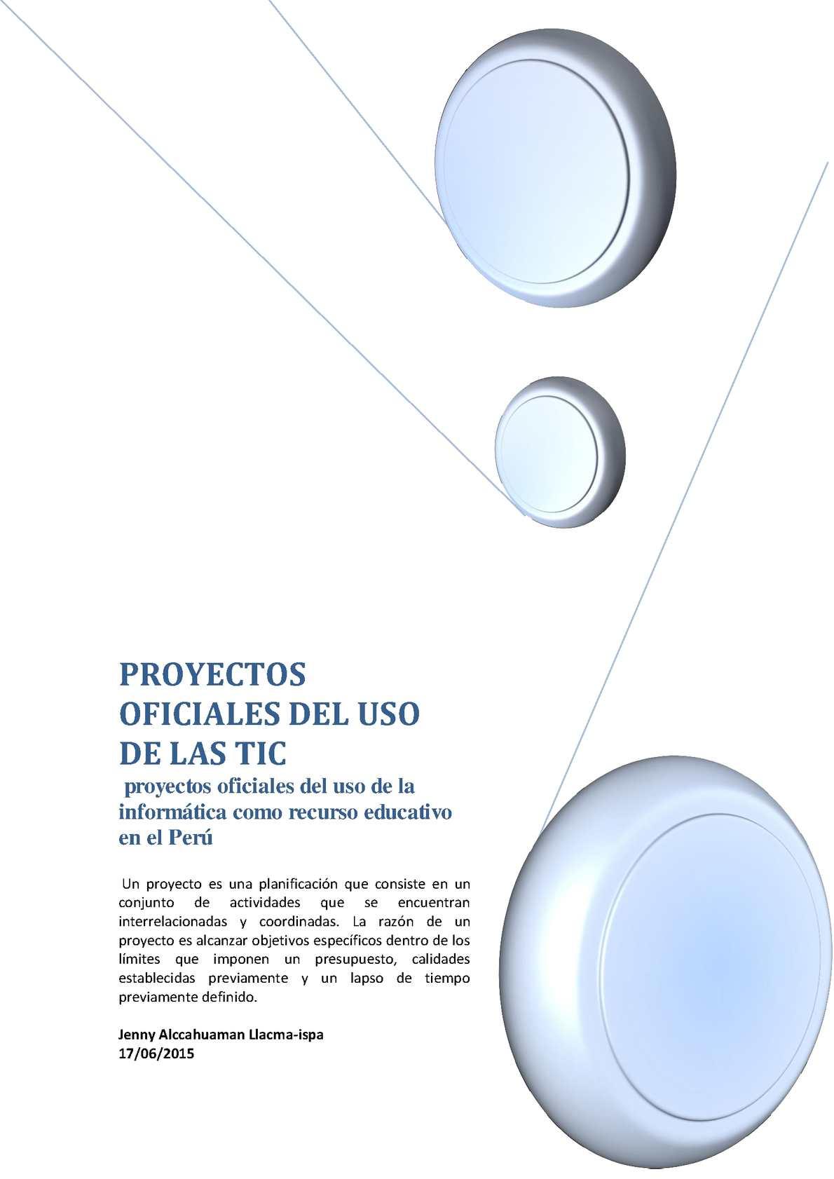 Proyectos Oficiales De Las Tic En El Perú