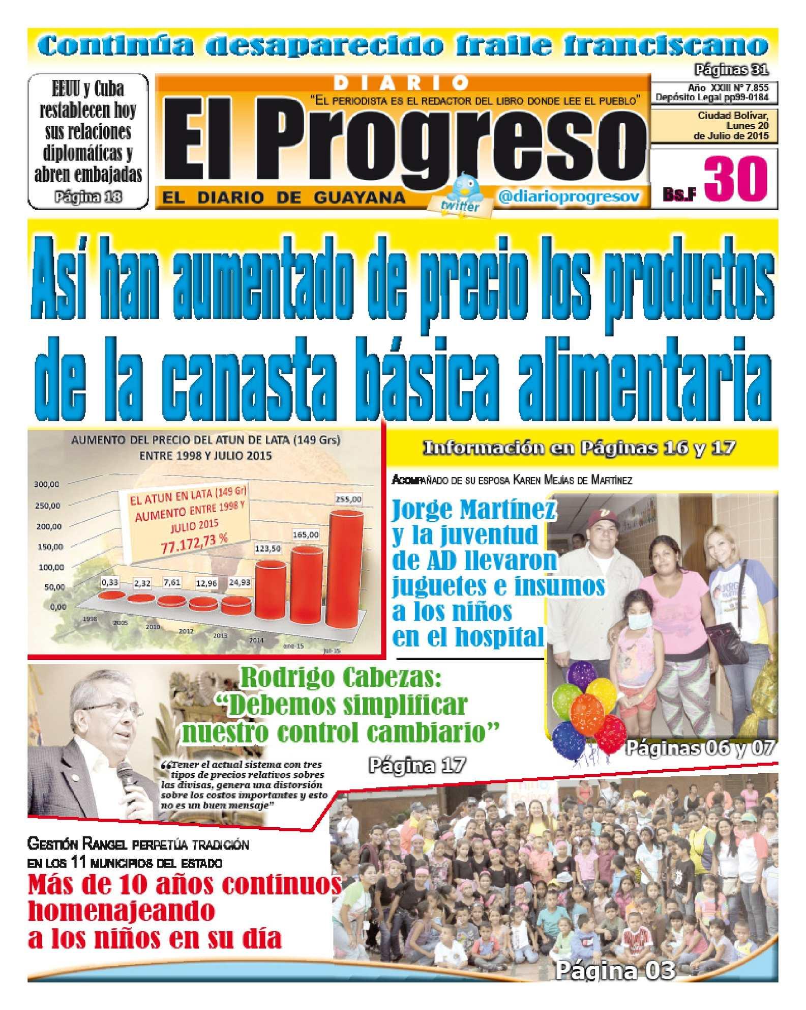 """Calaméo DiarioelprogresoEDICI""""NDIGITAL 20 07 2015"""