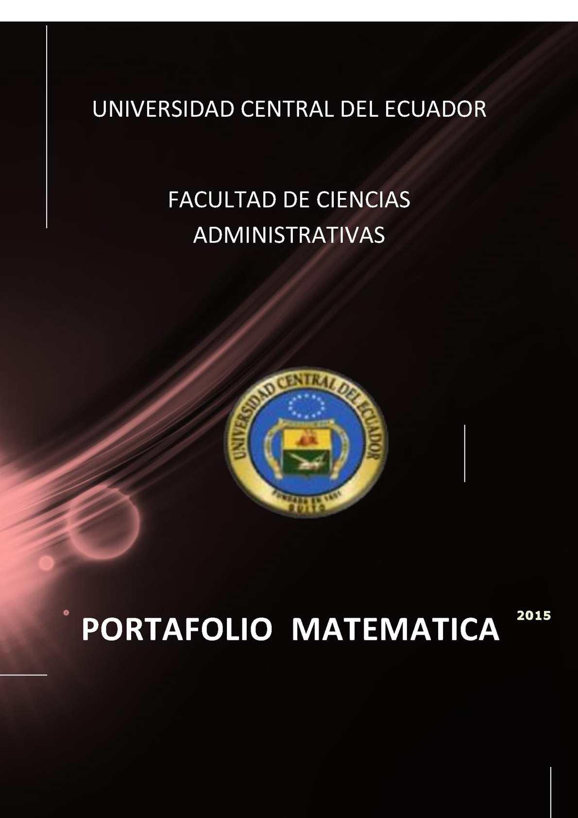 Portafolio Matematicas II