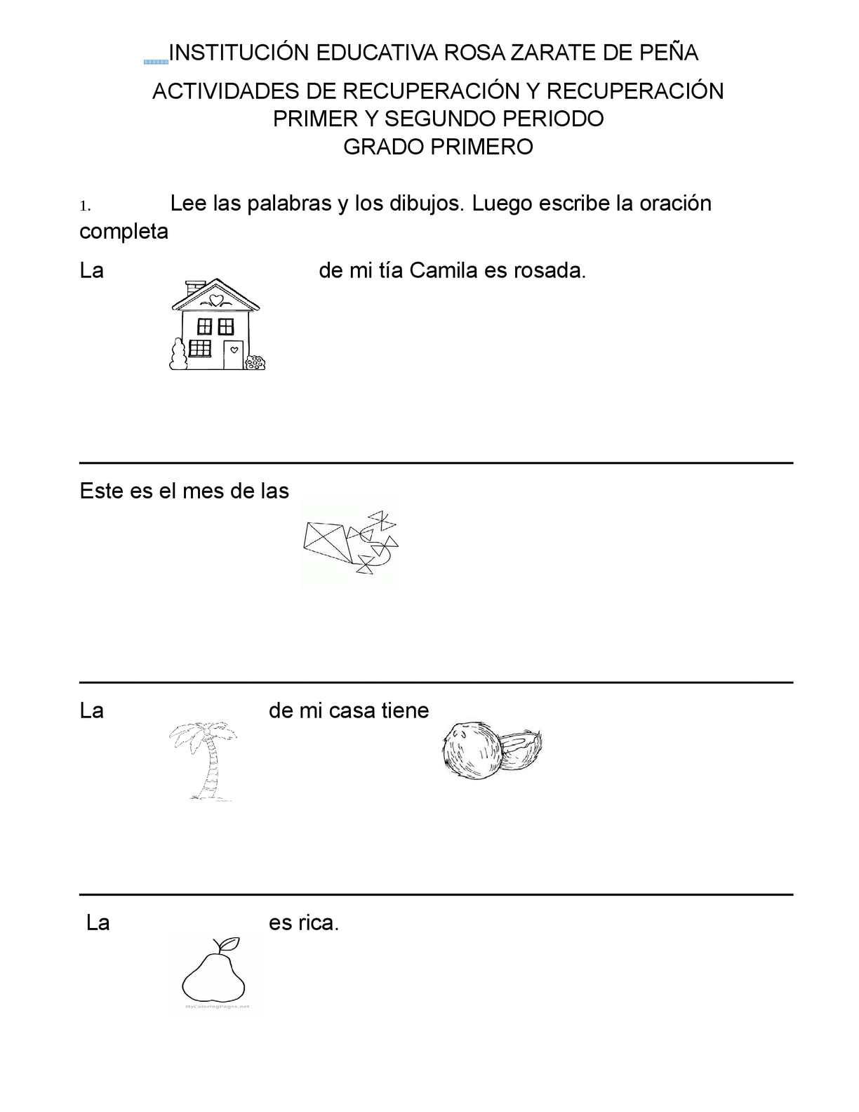 Actividades De Recuperación Español