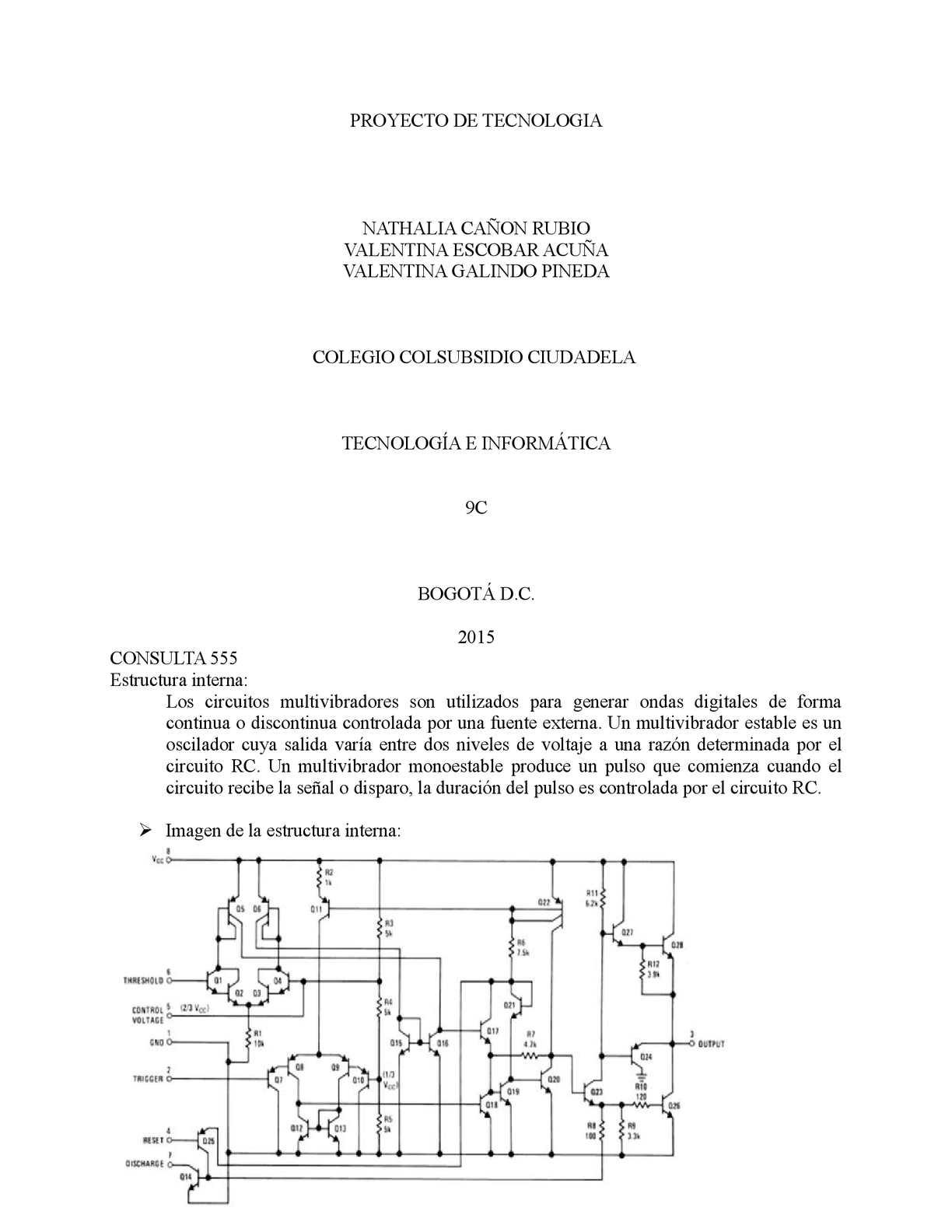 Circuito Rc : Calaméo proyecto de tecnologia