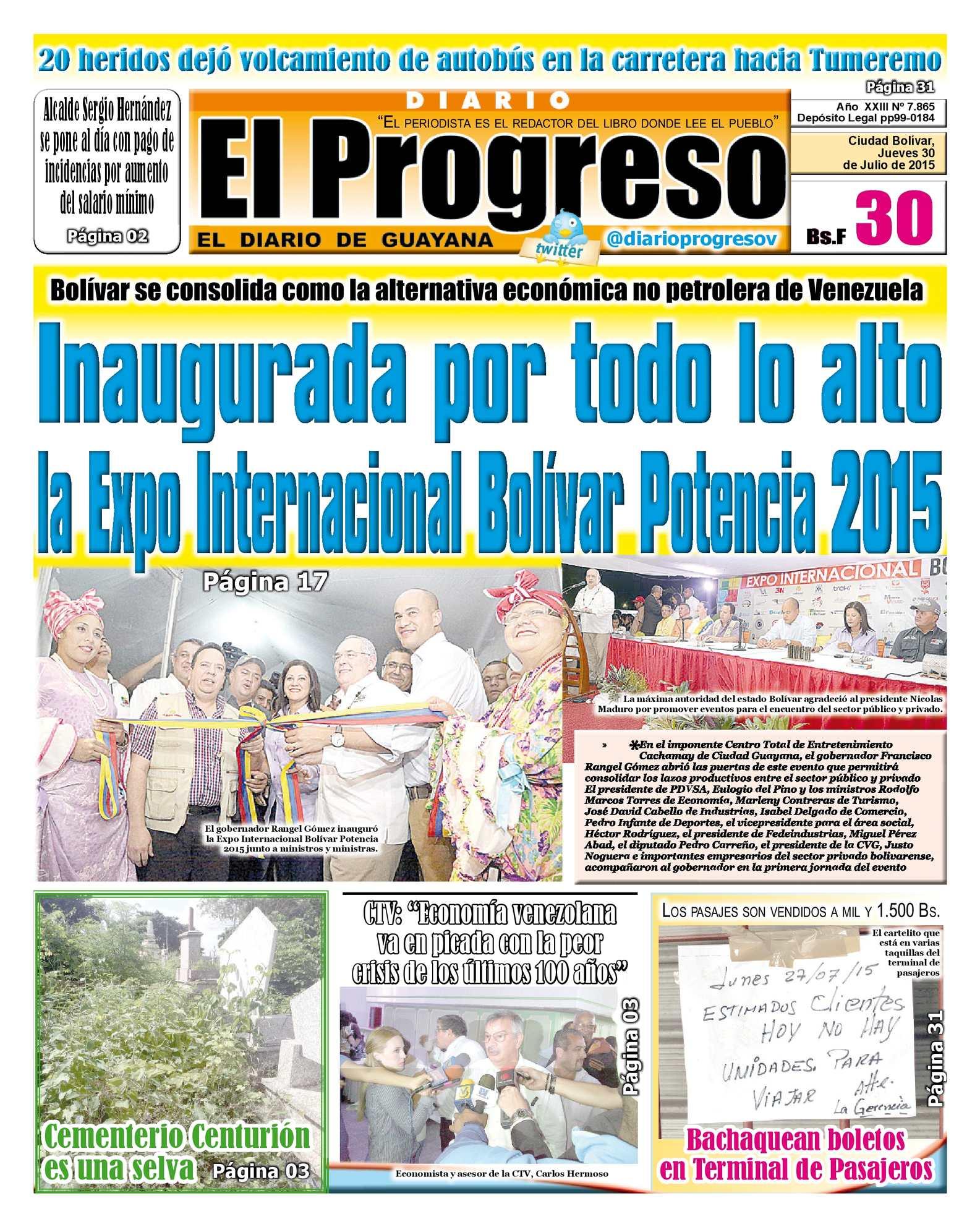 Calaméo - DiarioelprogresoEDICIÓNDIGITAL 30-07-2015