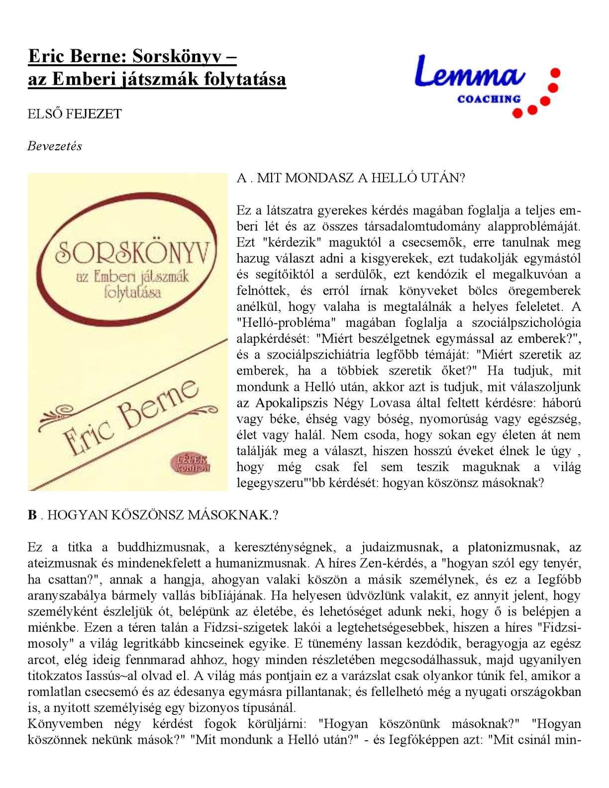 Calaméo - Eric Berne - Sorskönyv 162e9780f4