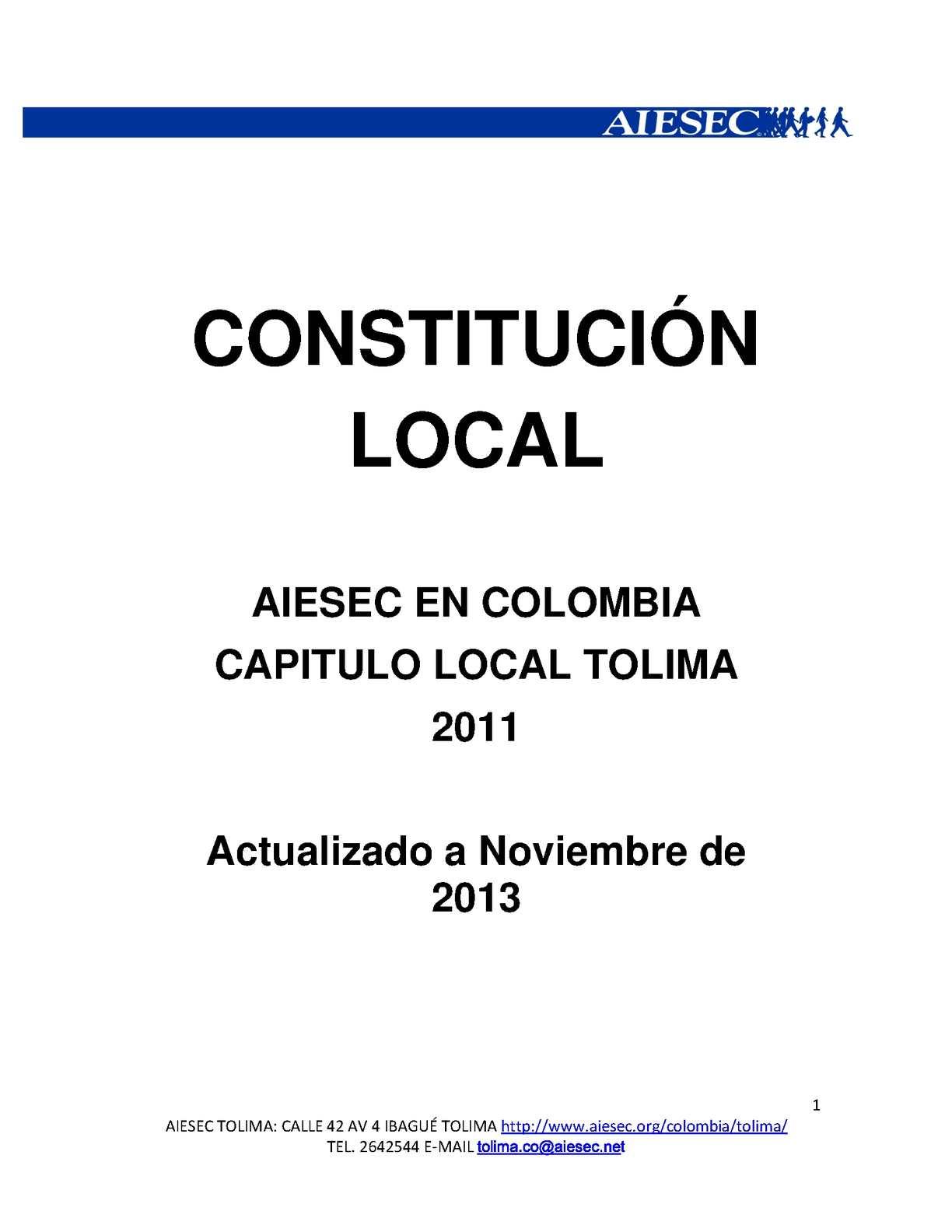 CONSTITUCION LOCAL