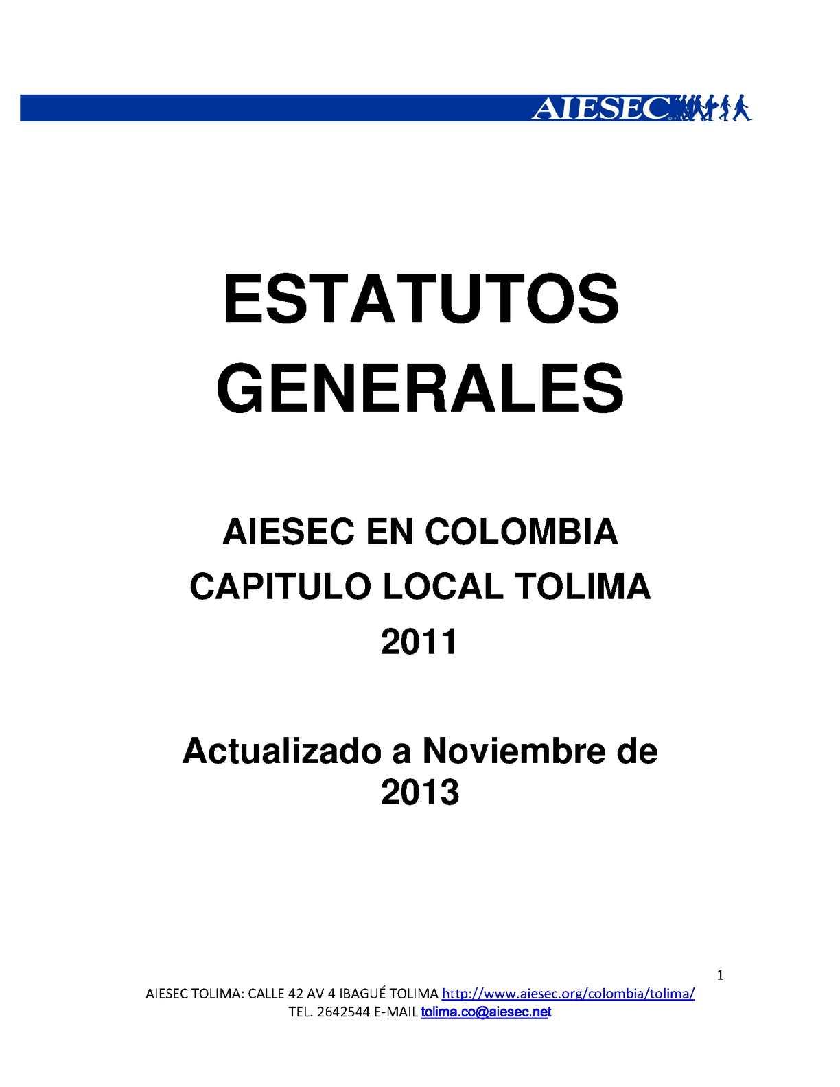 ESTATUTOS GENERALES (junta Directiva Y Otros Organismos).