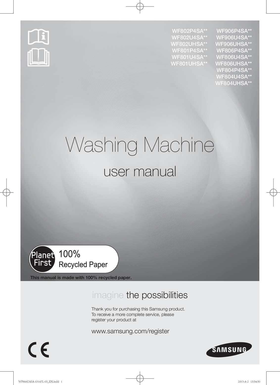 Calamo washing machine user manual wf 906 u4 samsung biocorpaavc Images