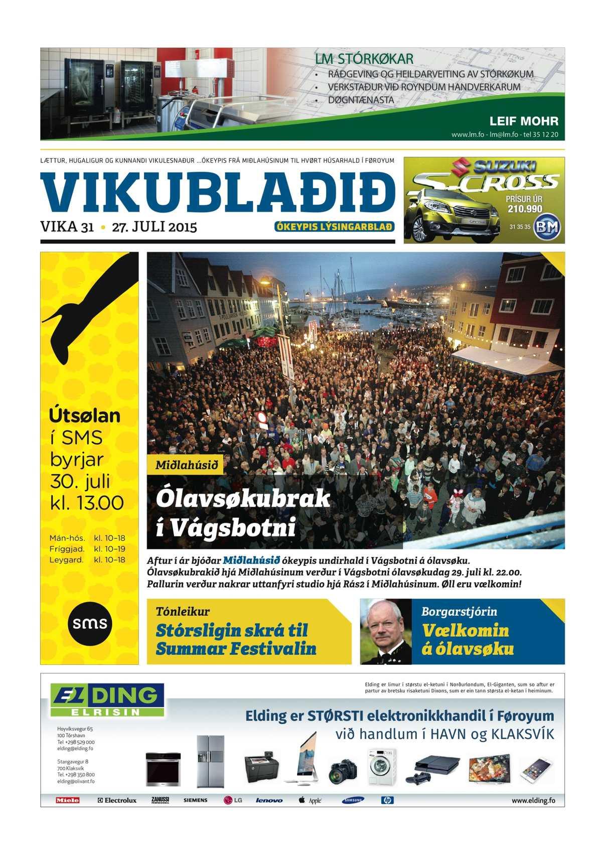 Vikublaðið   27. juli 2015