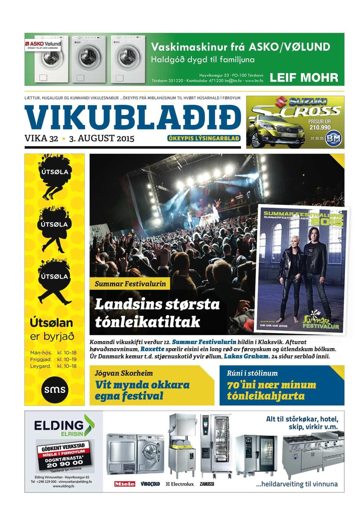 Vikublaðið 3. aug. 2015