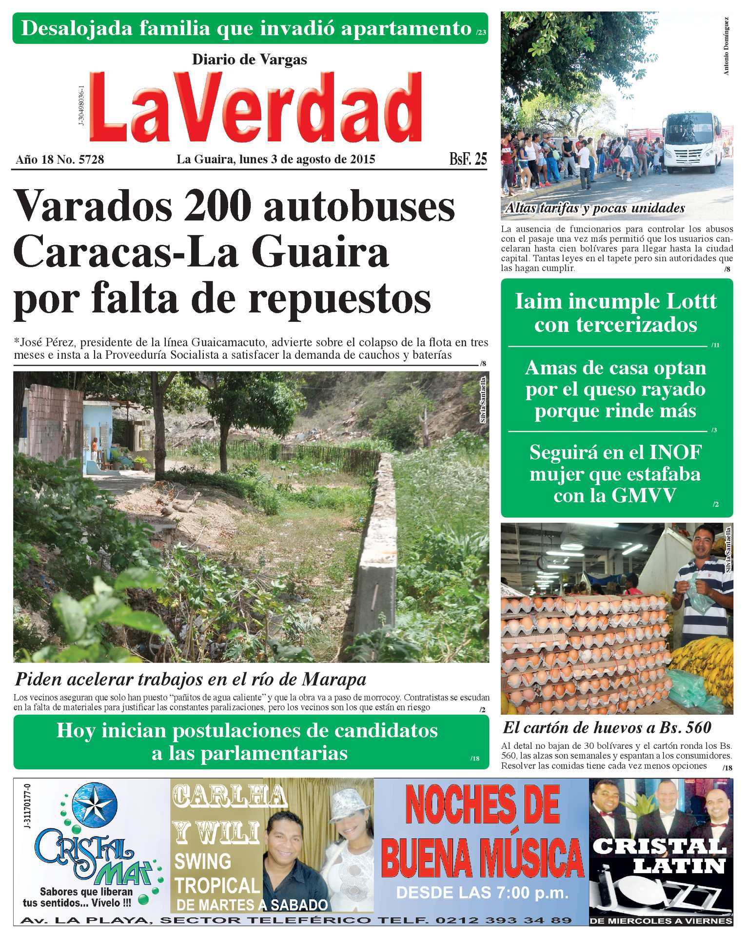 Calaméo - La Guaira, lunes 3 de agosto de 2015 Año 18 No. 5728