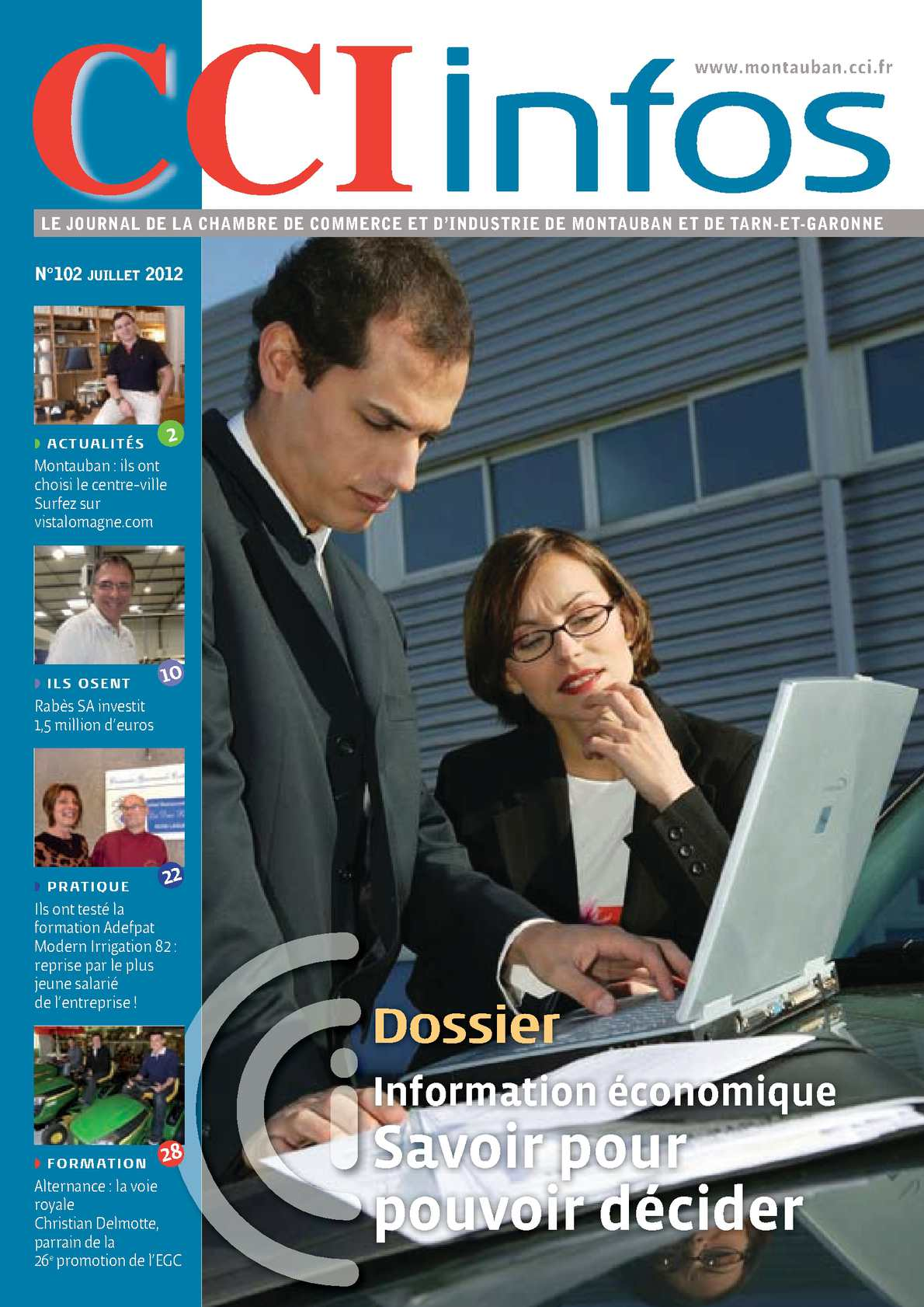 Calam o cci infos juillet 2012 102 for Chambre de commerce montauban