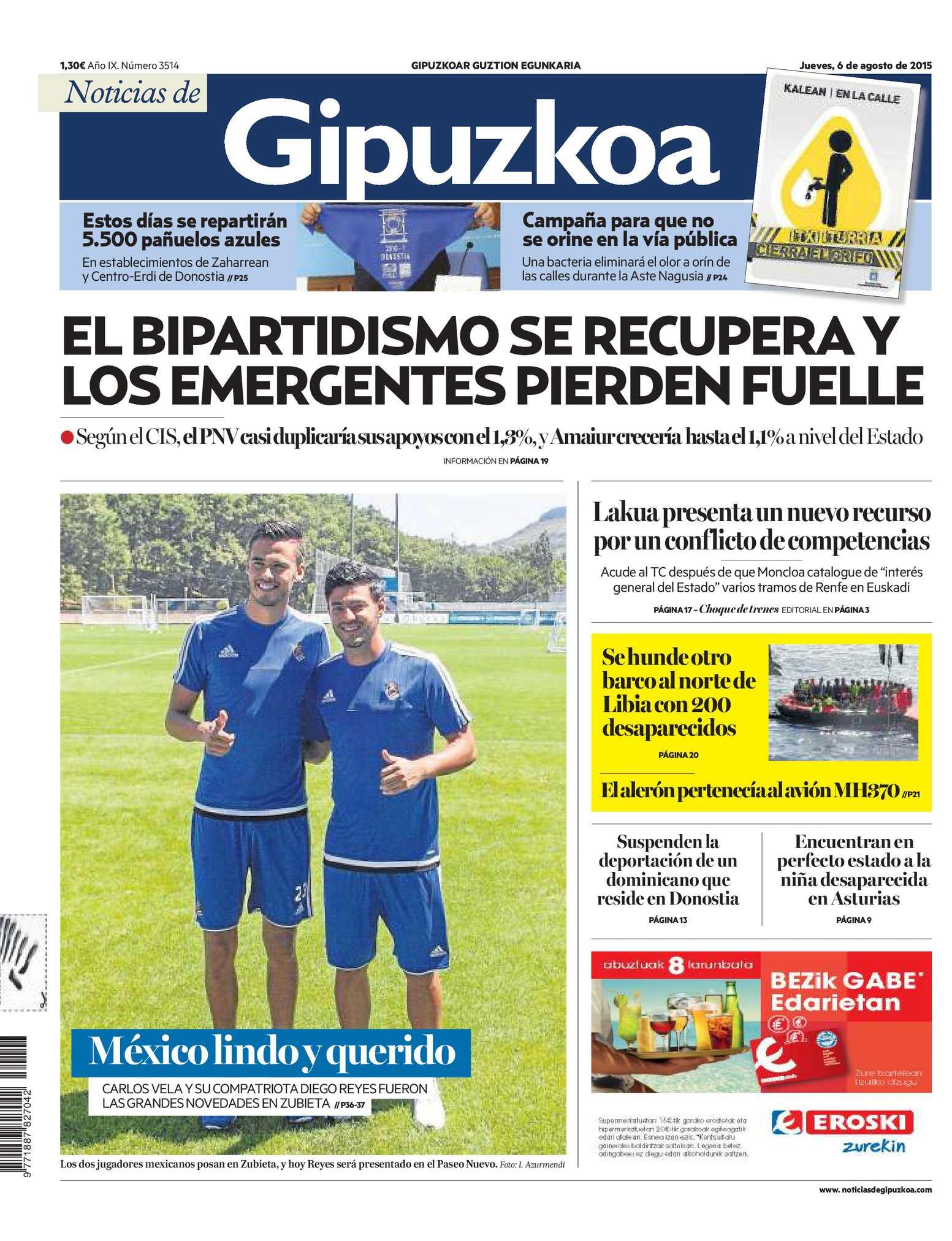 Calaméo - Noticias de Gipuzkoa 20150806