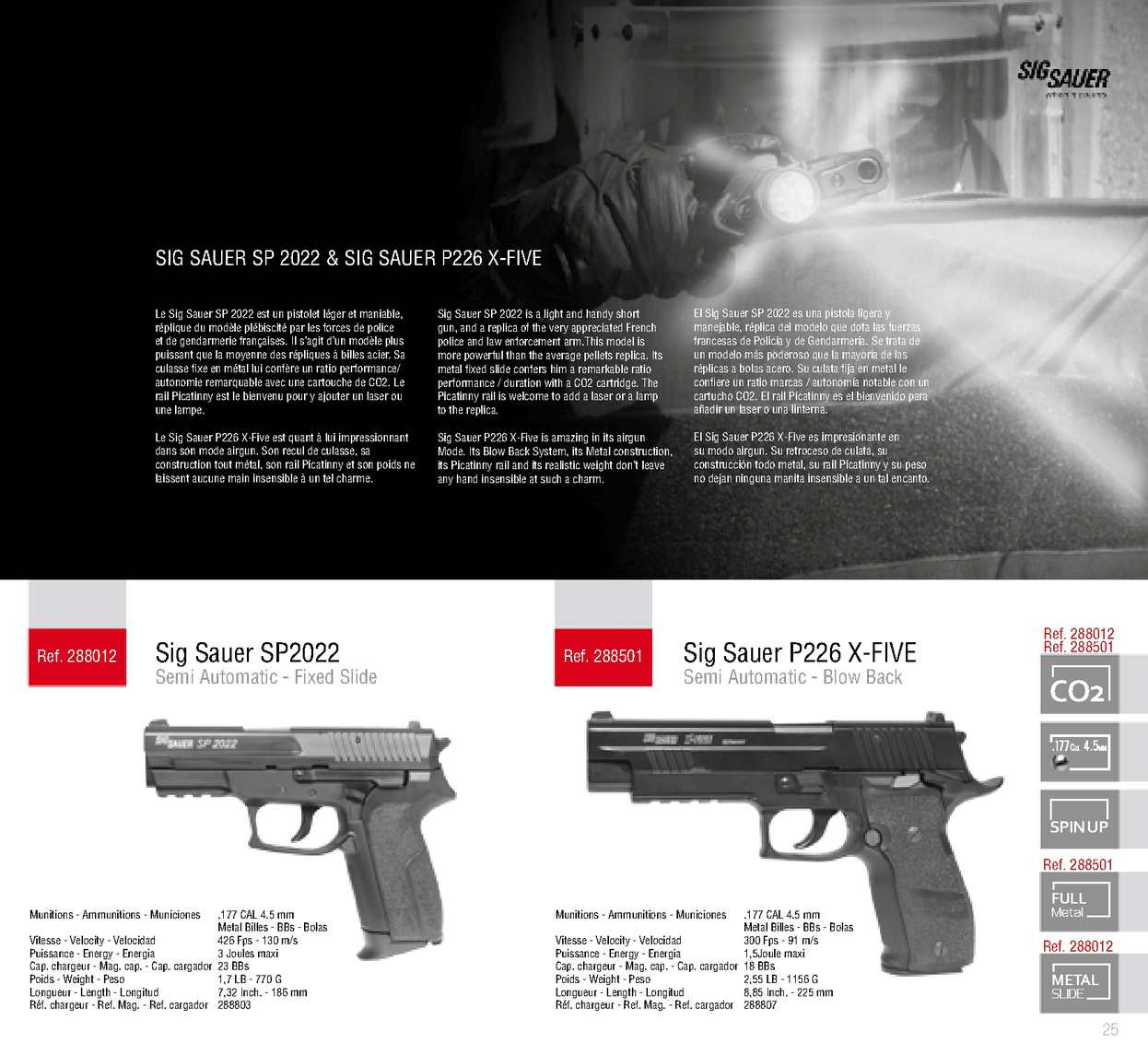 chargeur sig sauer sp2022