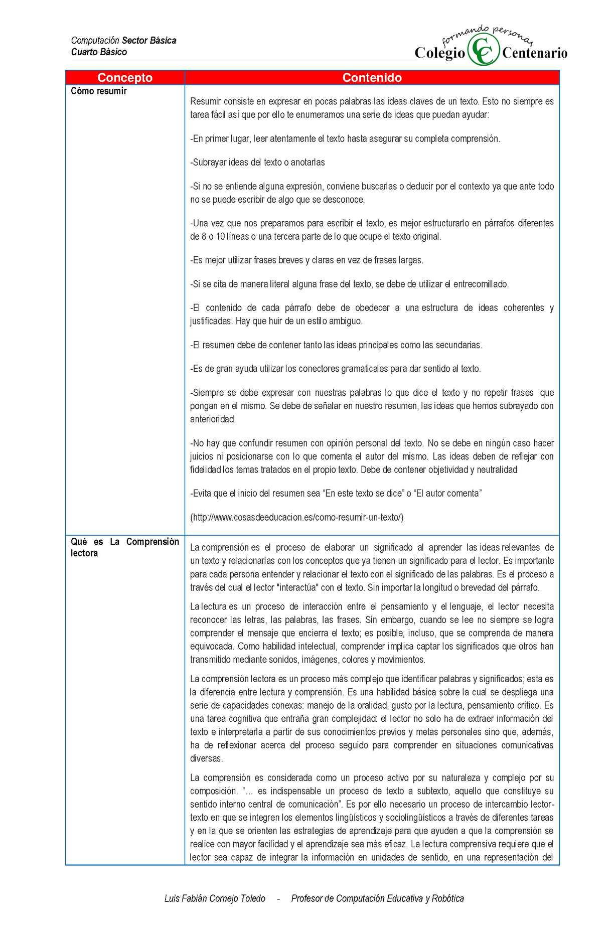 Calaméo - Actividad Evaluativa N°5 Tablas En Word
