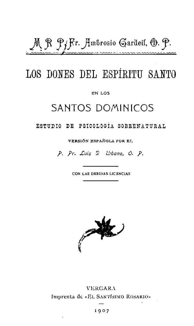 Los Dones Del Espiritu Santo En Los Santos Dominicos Gardeil