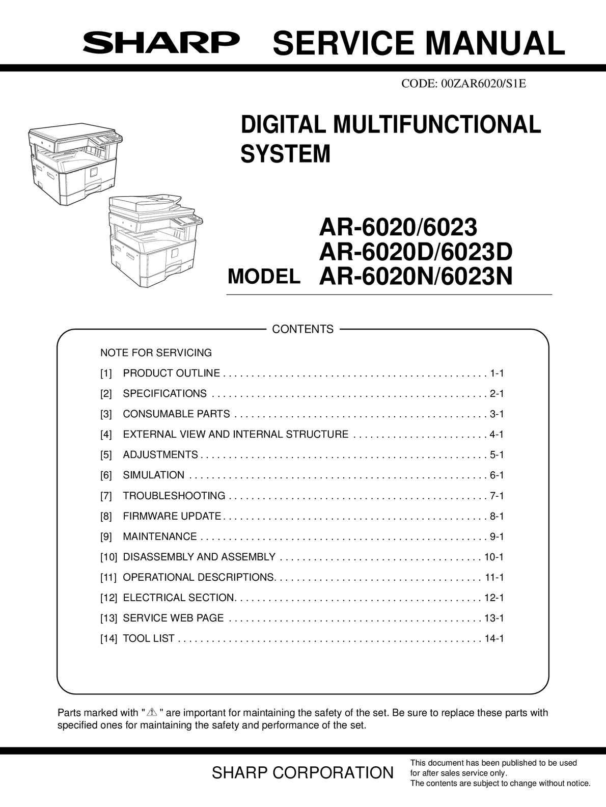 calaméo service manual ar 6031