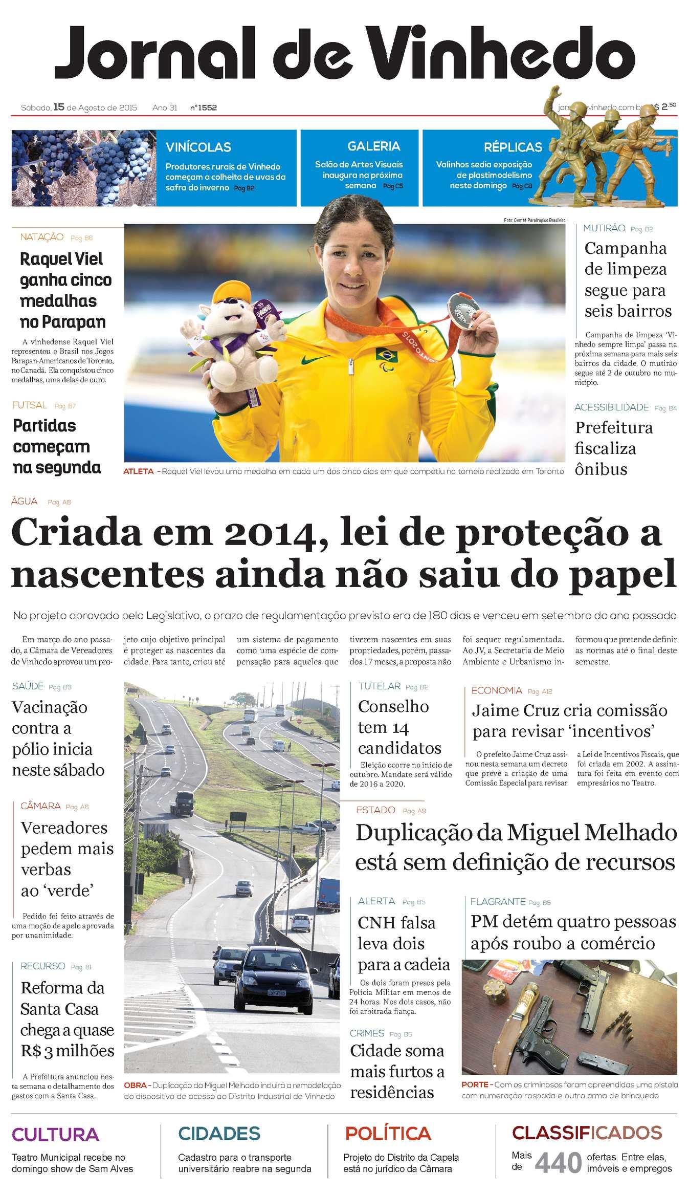 1bdfd26382283 Calaméo - Jornal De Vinhedo Sábado, 15 De Agosto De 2015