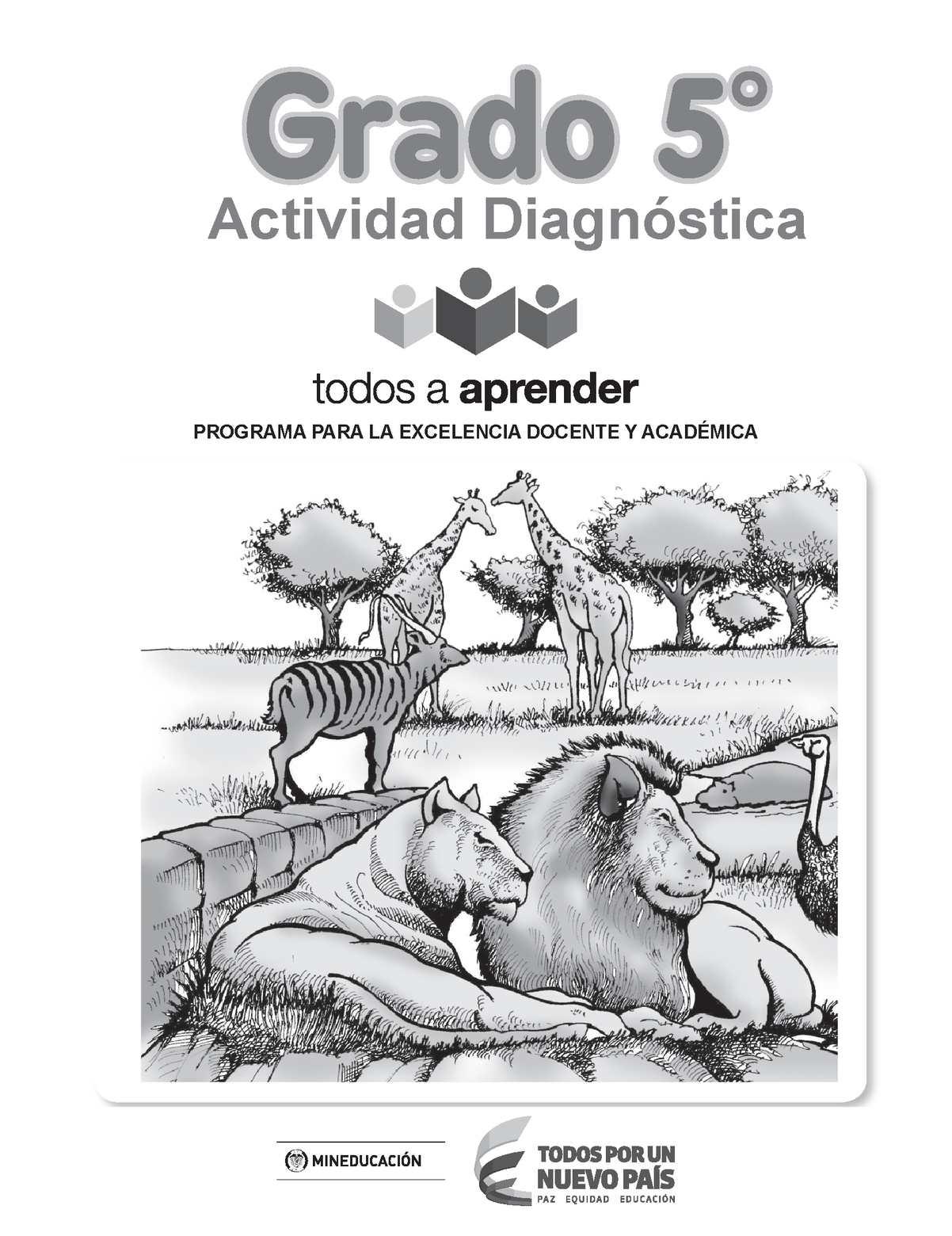 Cuadernillo Gr 5 de Pruebas diagnóstica 2015