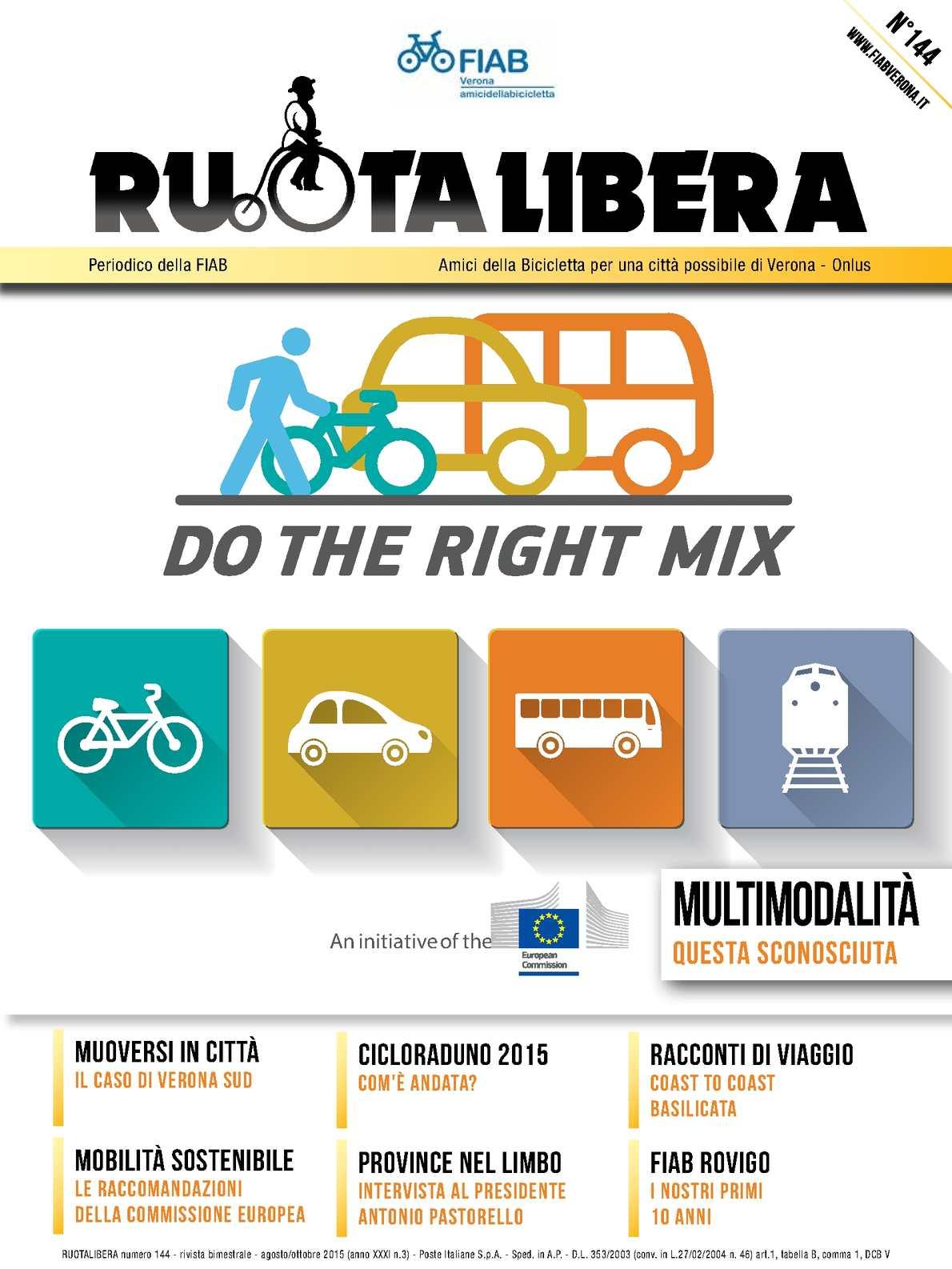 Ruotalibera 144 (agosto-ottobre 2015) - FIAB Verona - AdB