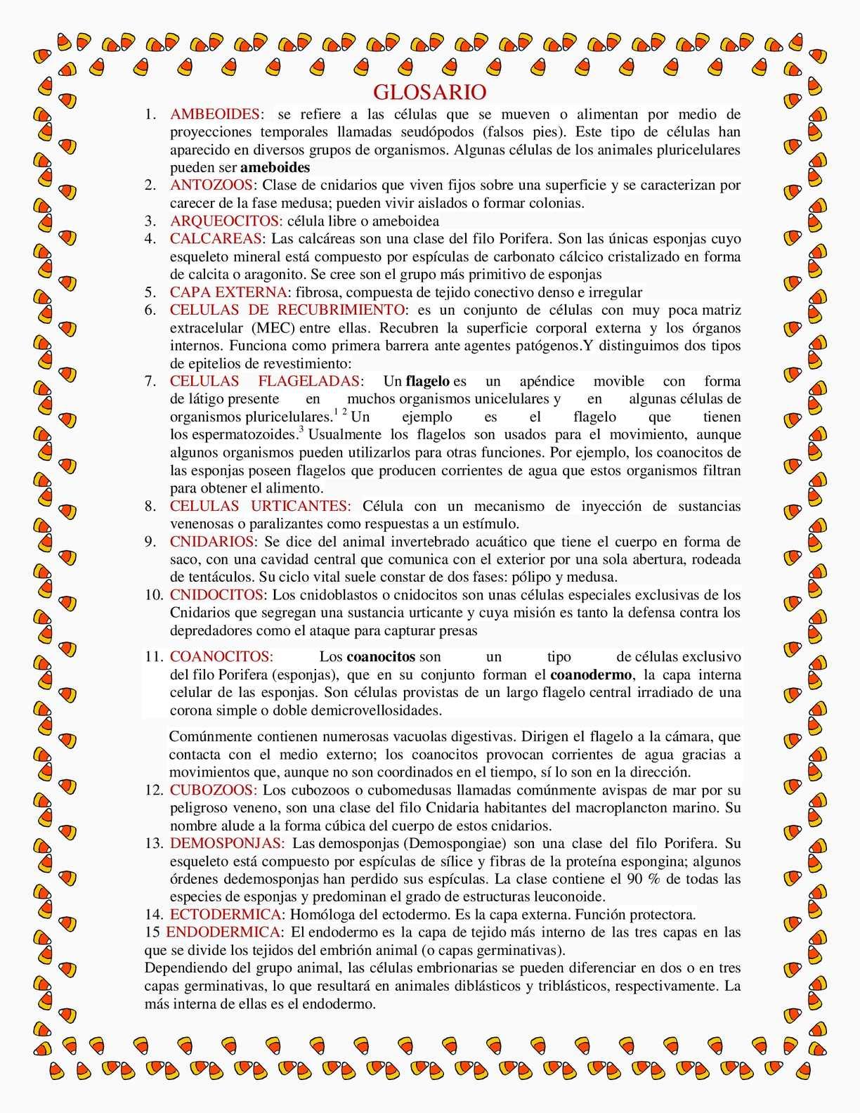 Calaméo - Glosario Invertebrados 1