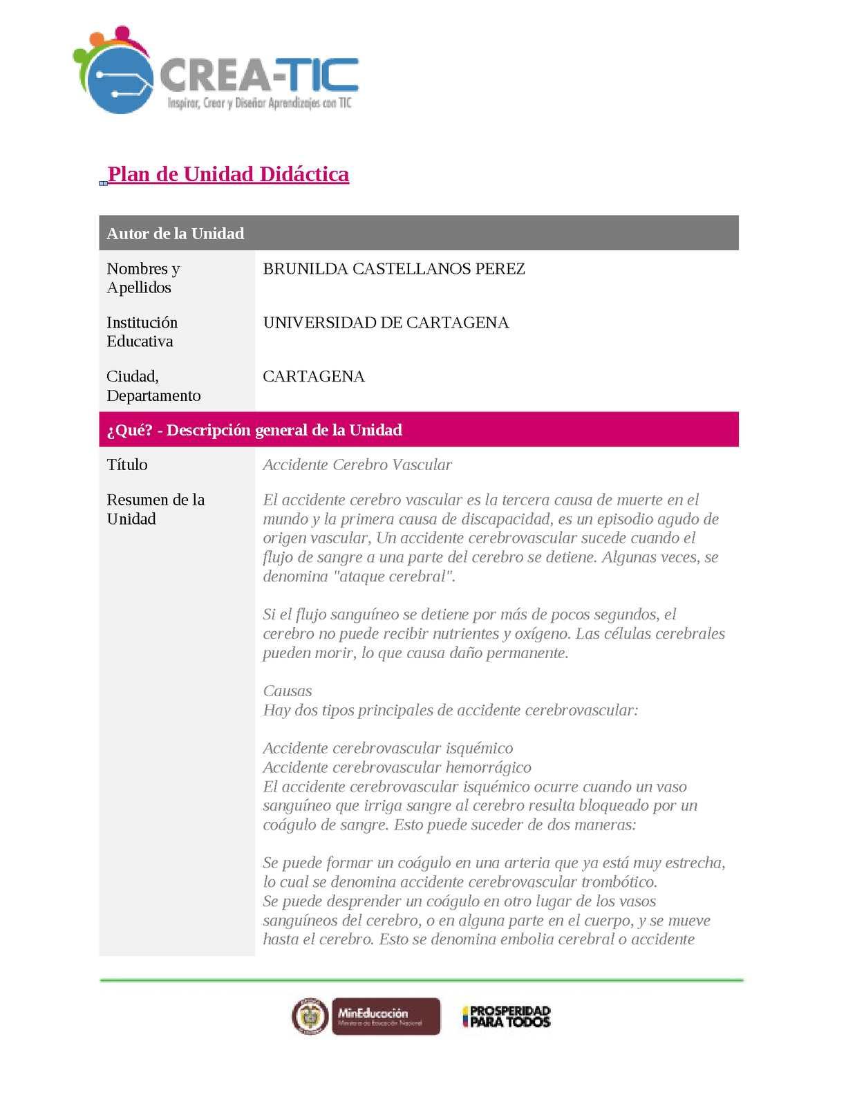 Calaméo - Plan De Unidad Didactica Individual Bruny