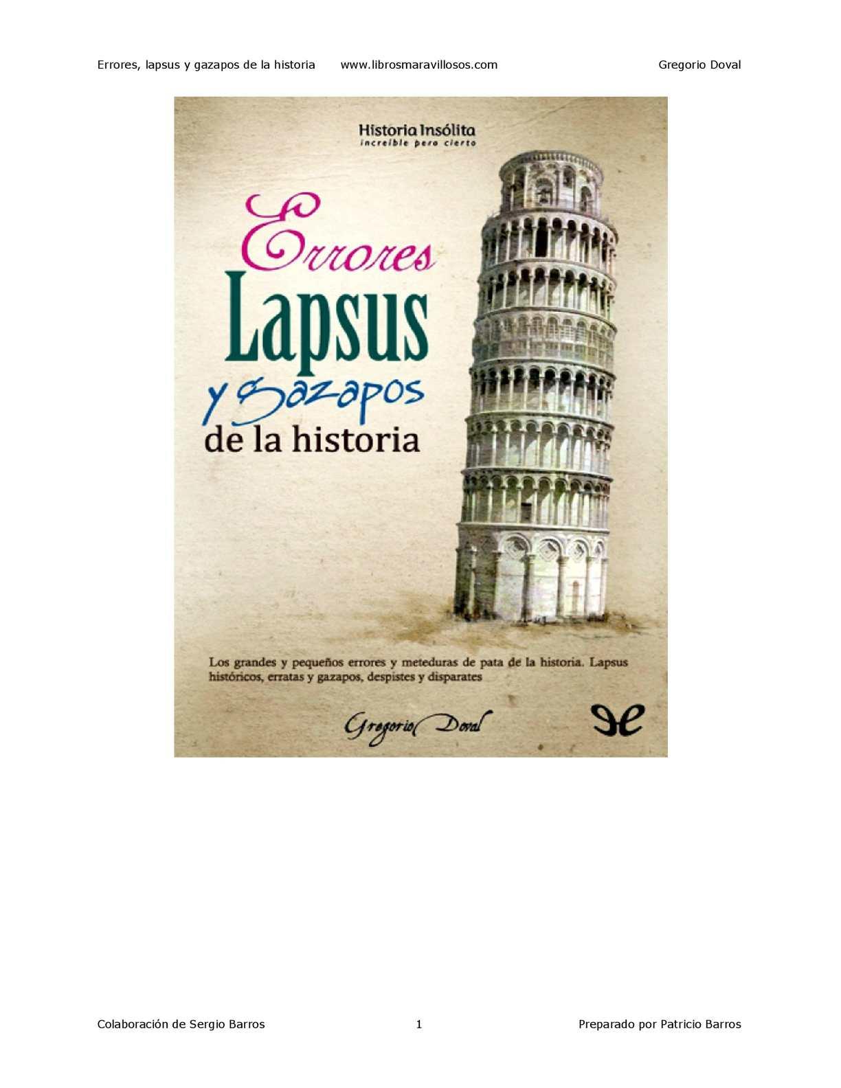 Calaméo - Errores Lapsus Y Gazapos De La Historia