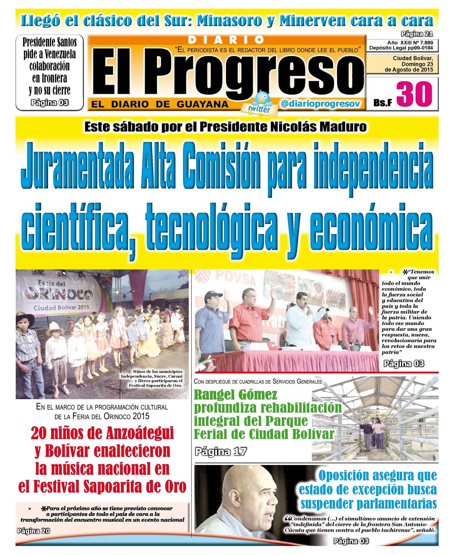 Calaméo - DiarioelprogresoEDICIÓNDIGITAL 23-08-2015