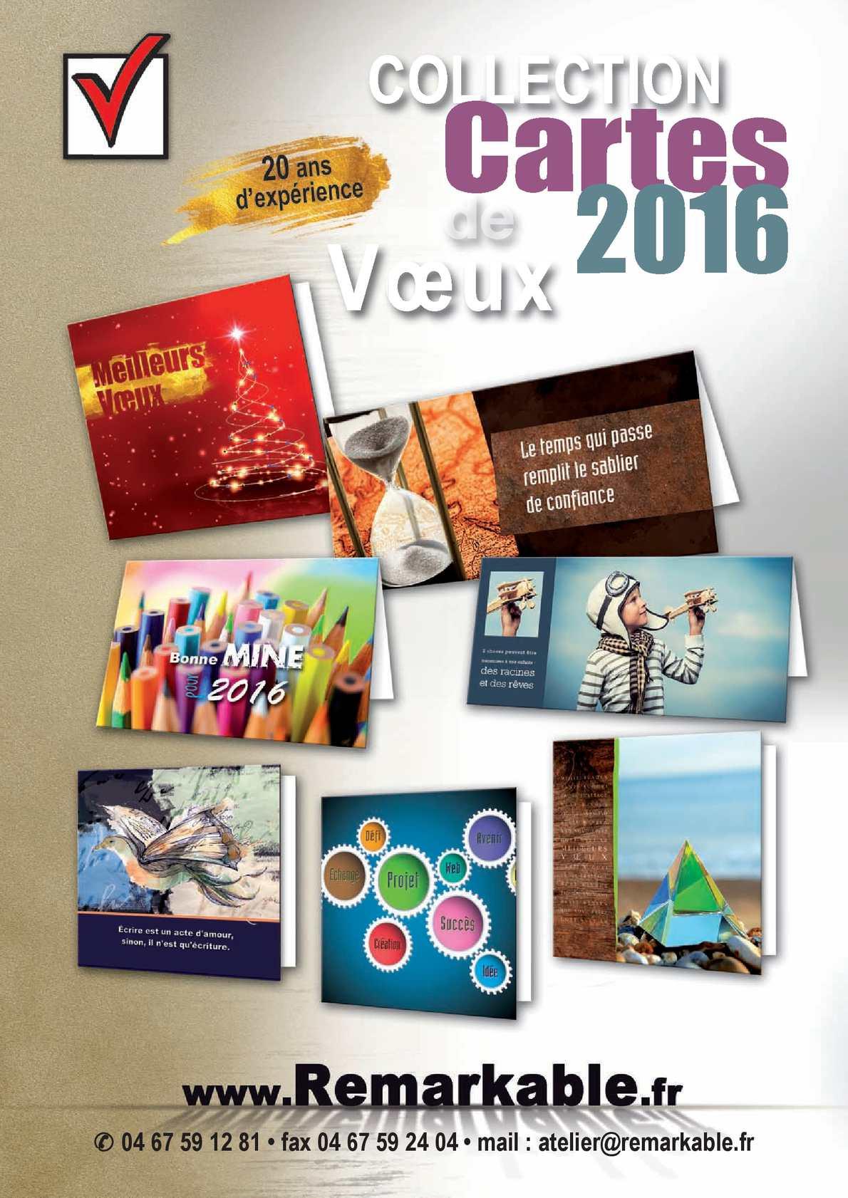 Catalogue Carte de vœux 2016