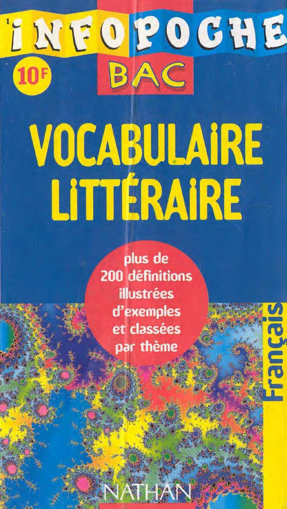 Infopoche Bac Vocabulaire Litteraire