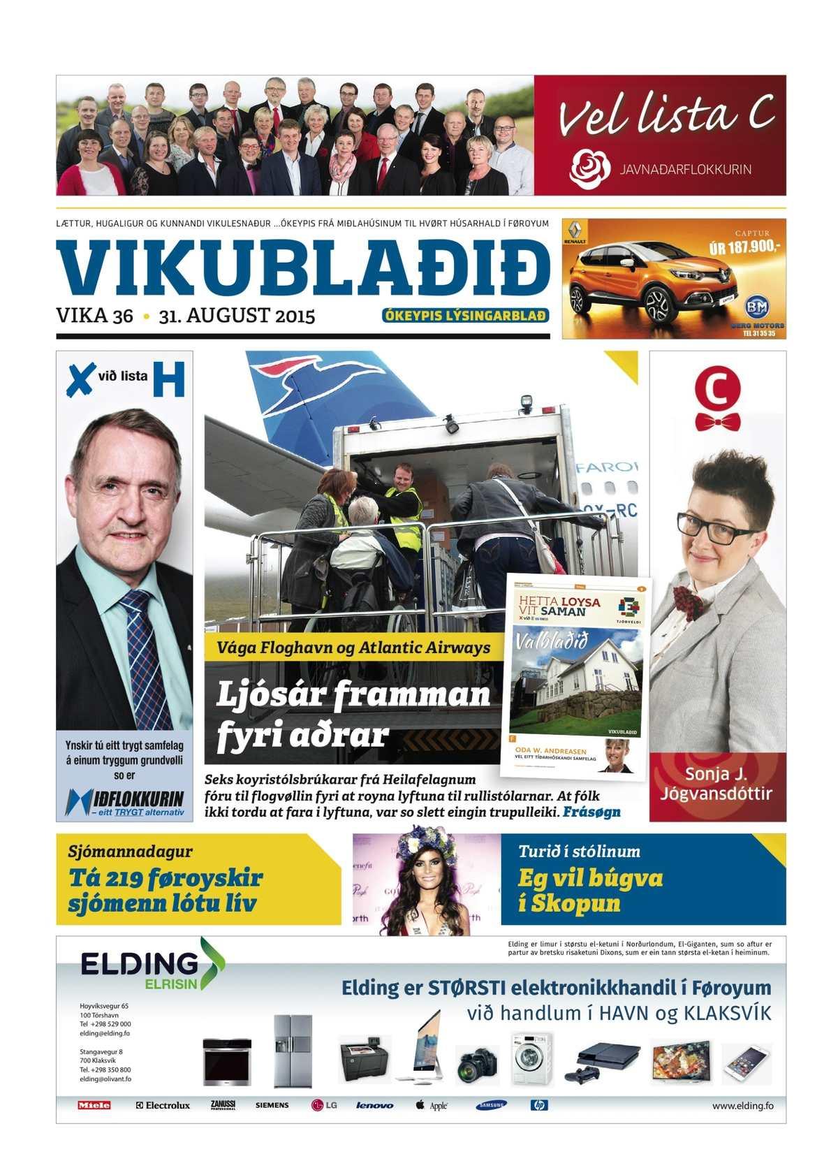 Vikublaðið 31. aug. 2015