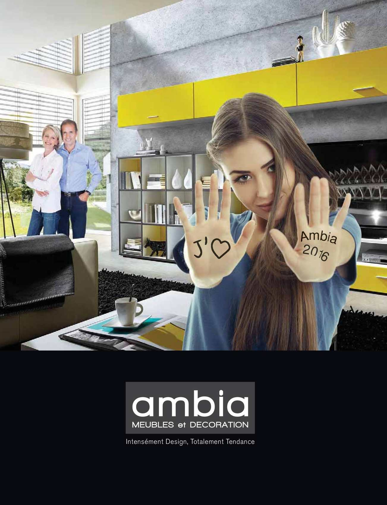Calam o catalogue ambia 2016 for Meuble ambia
