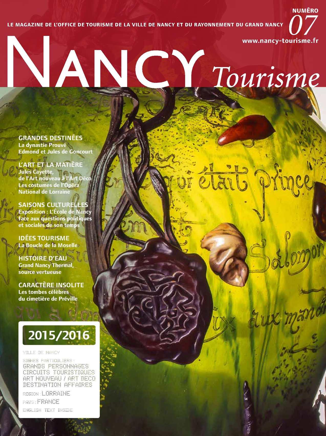 Calam o nancy tourisme n 7 - Office du tourisme meurthe et moselle ...