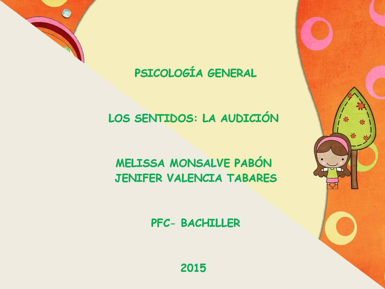 Exposicion De La Audicion