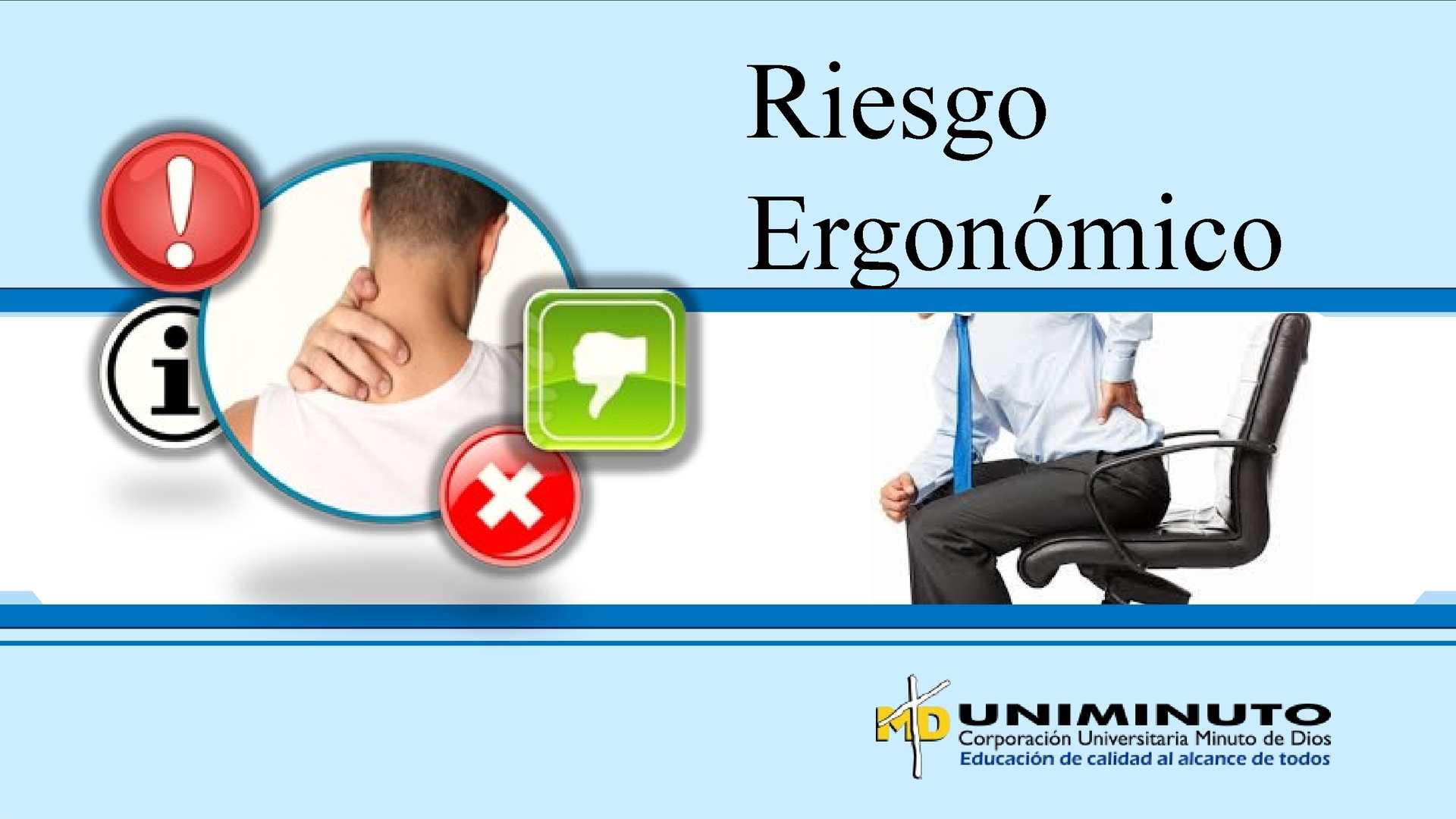 Riesgo ergonómico. Zulay Arias