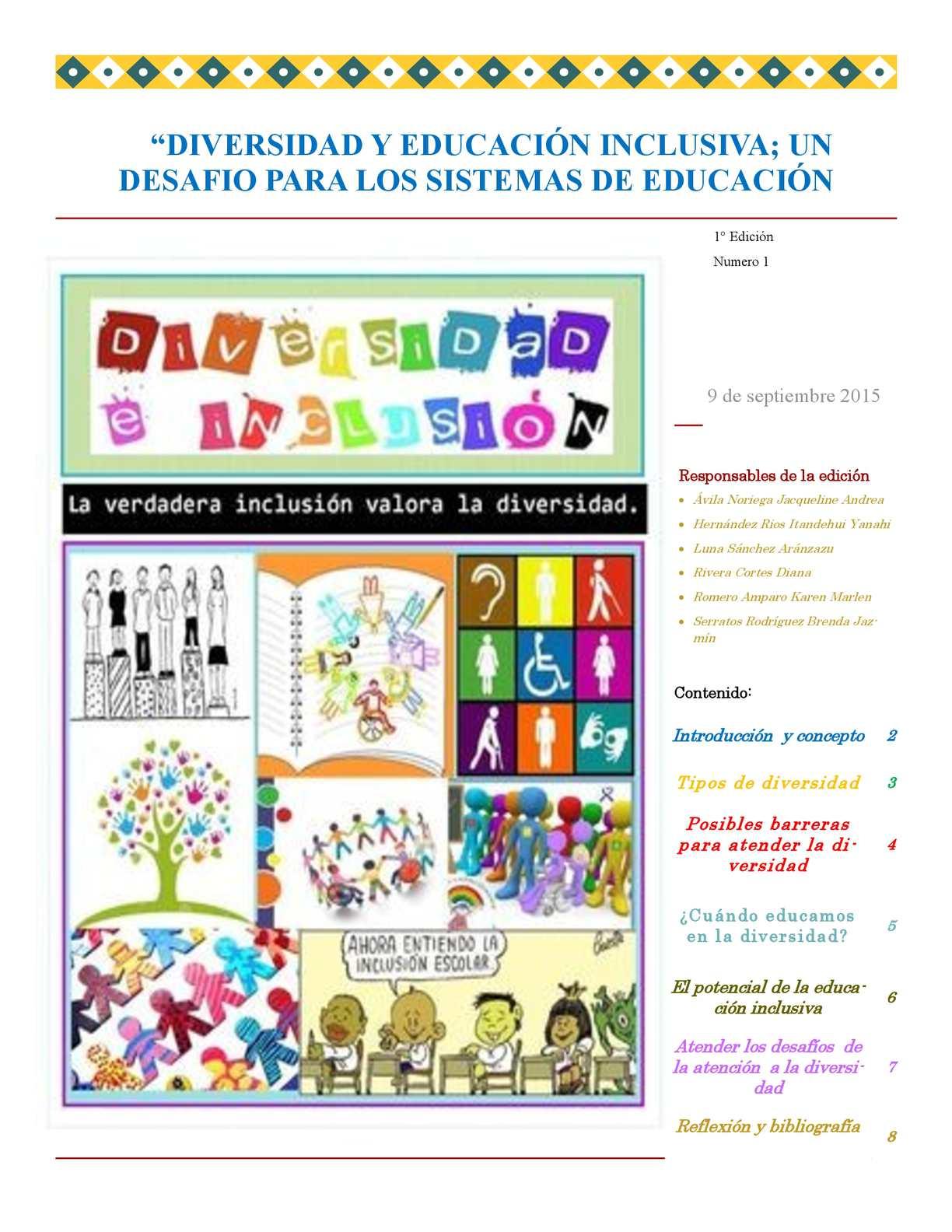 Boletin La Diversidad E Inclusion