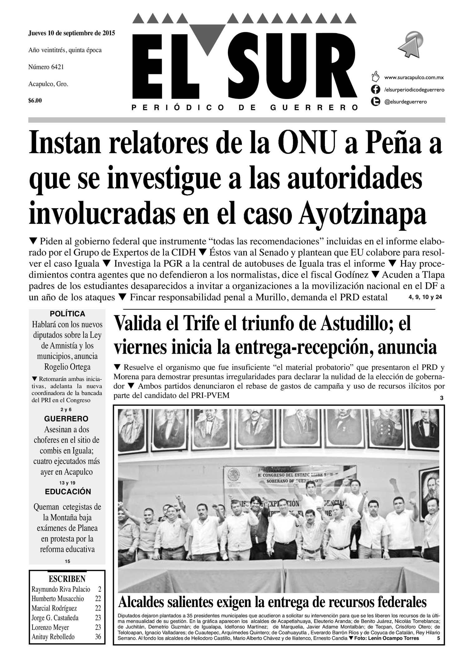 Calaméo - El Sur Jueves 10092015 eb783a3df4d
