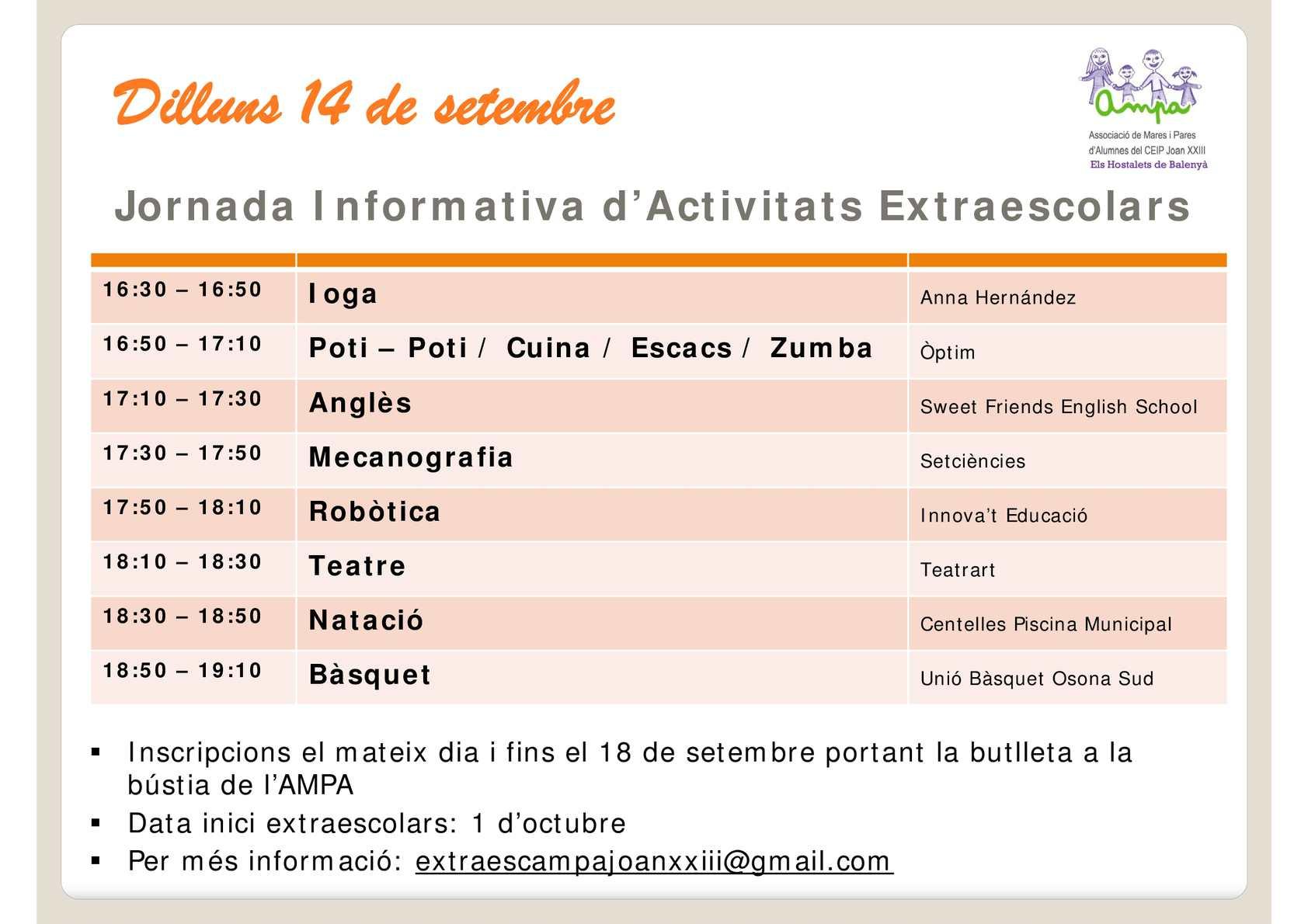 Calam o cartell jornada extraescolars 1 for Piscina municipal centelles