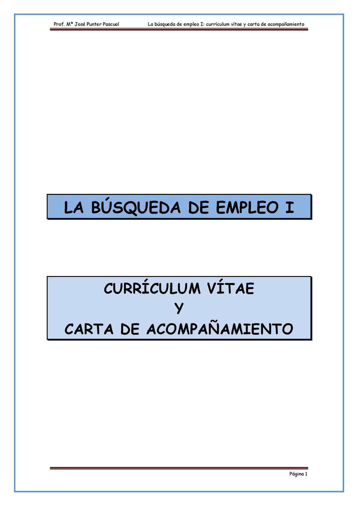 Calaméo - Tema 2 El Proceso De Búsqueda De Empleo Carta Y Currículum