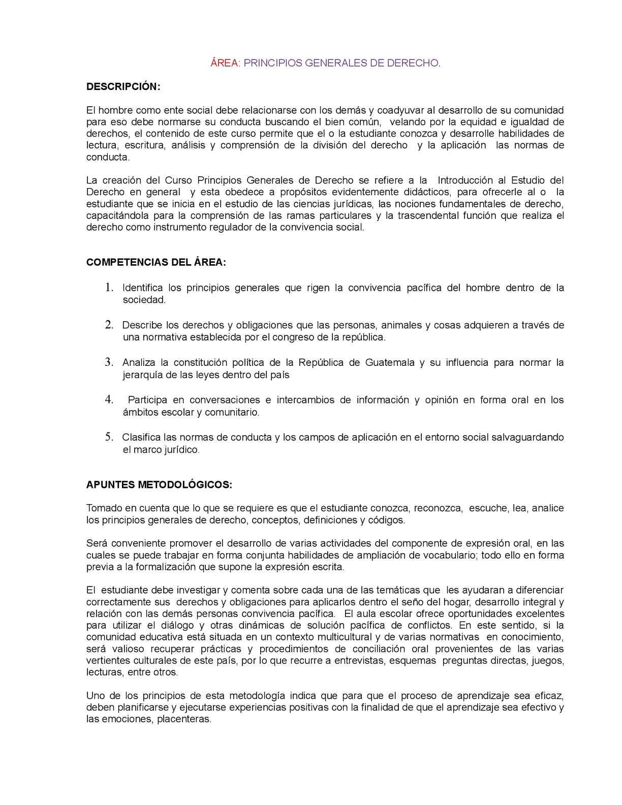Calaméo - Malla Curricular Principios Generales De Derecho