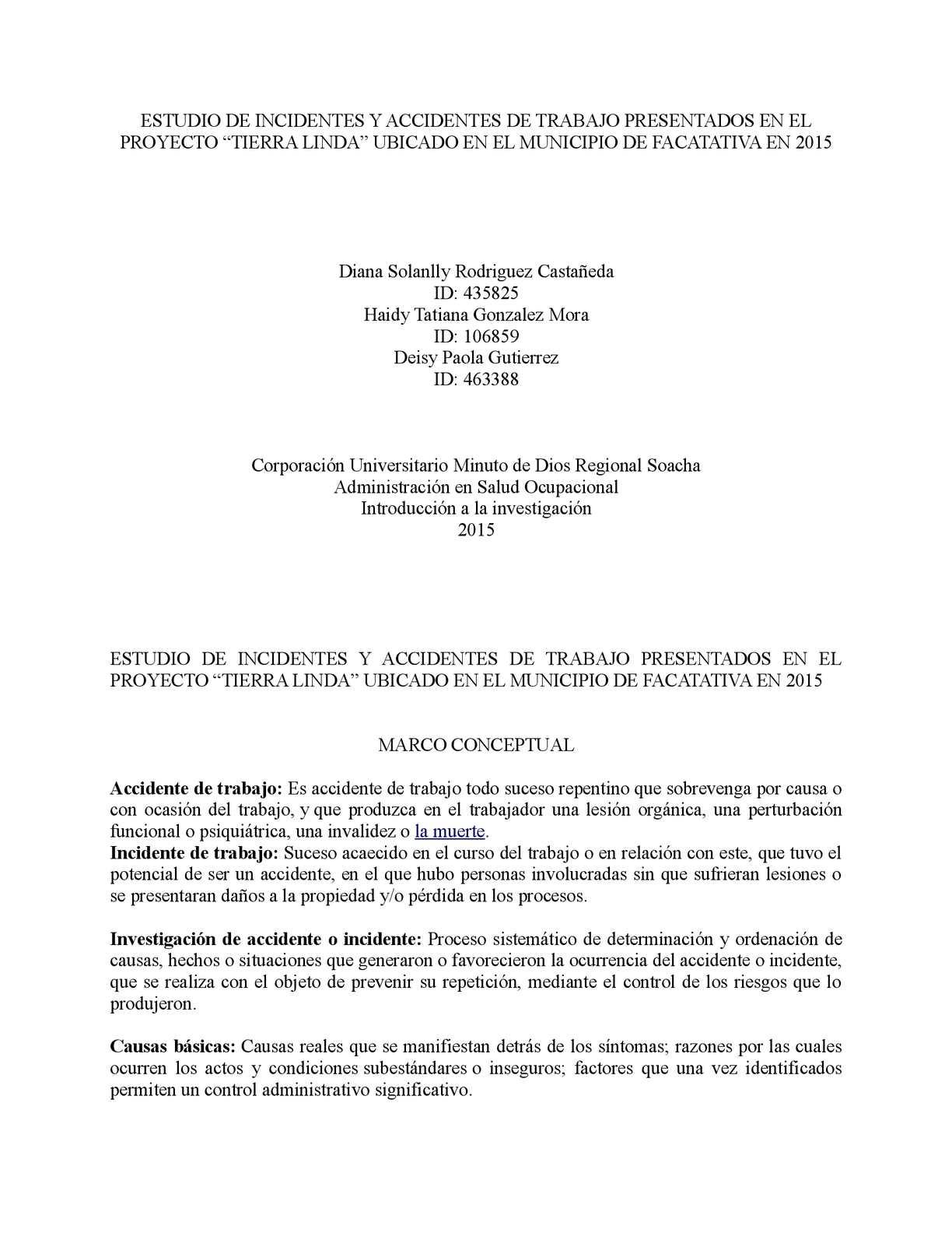 Calaméo - Estudio De Incidentes Y Accidentes De Trabajo Presentados ...