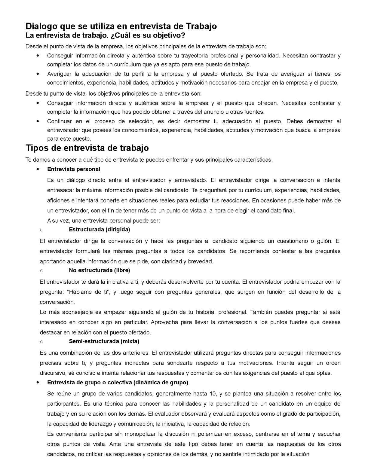 Calaméo - Dialogo Que Se Utiliza En Entrevista De Trabajo